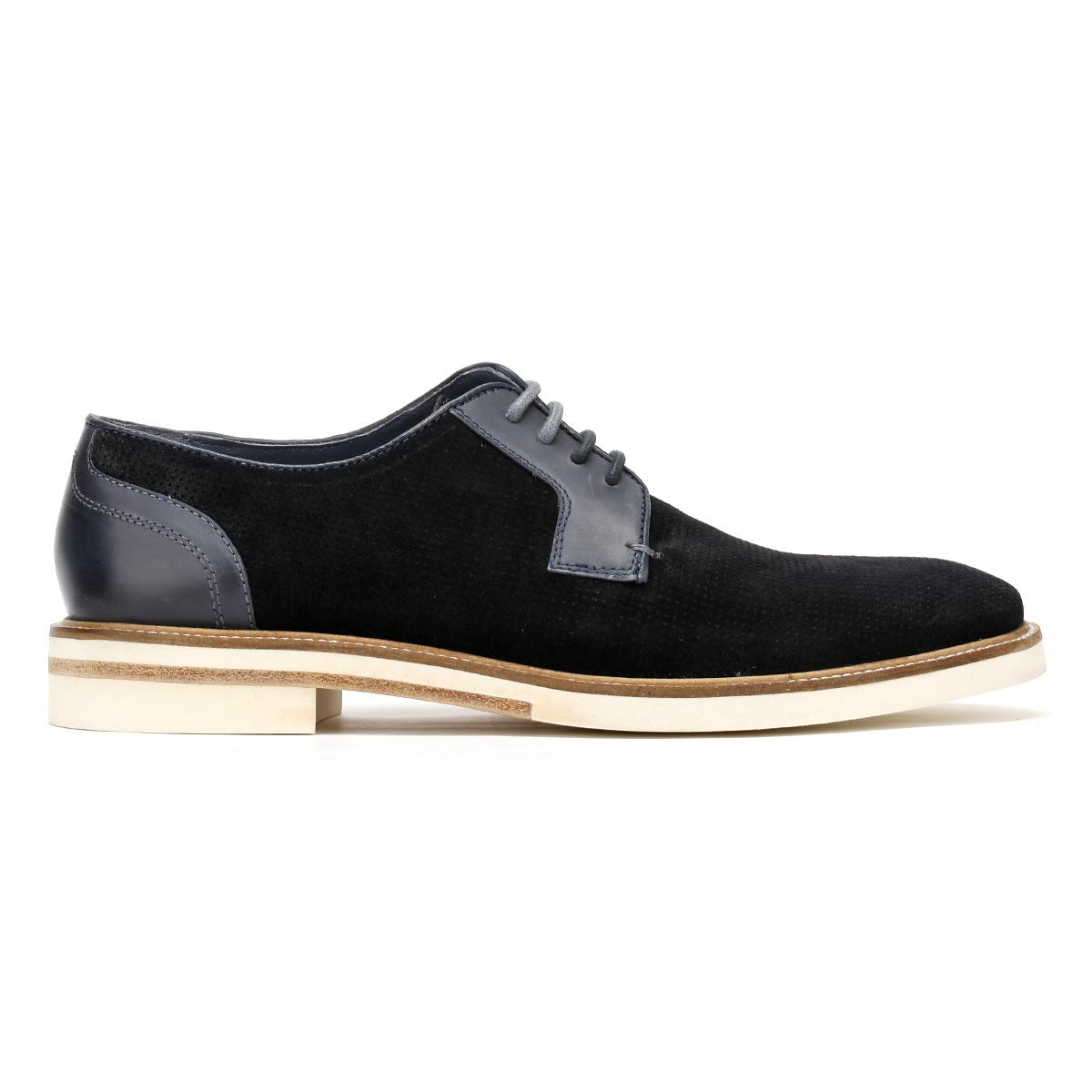 a2aa4113e02879 Lyst - Ted Baker Mens Dark Blue Siablo Perforated Suede Shoes in ...
