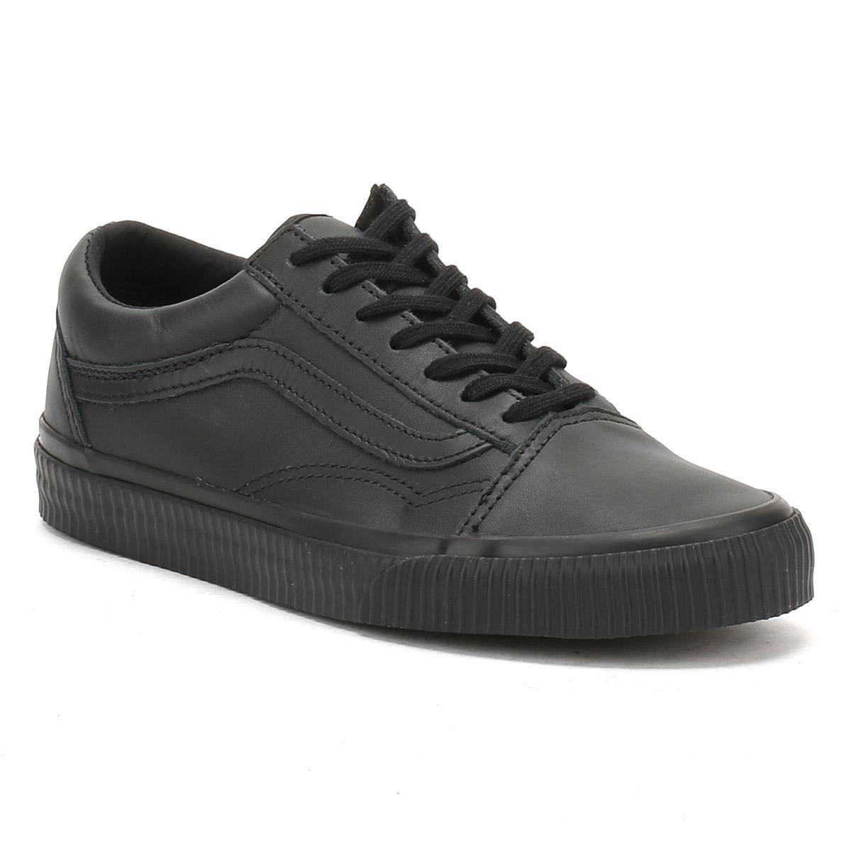vans old skool trainers in black