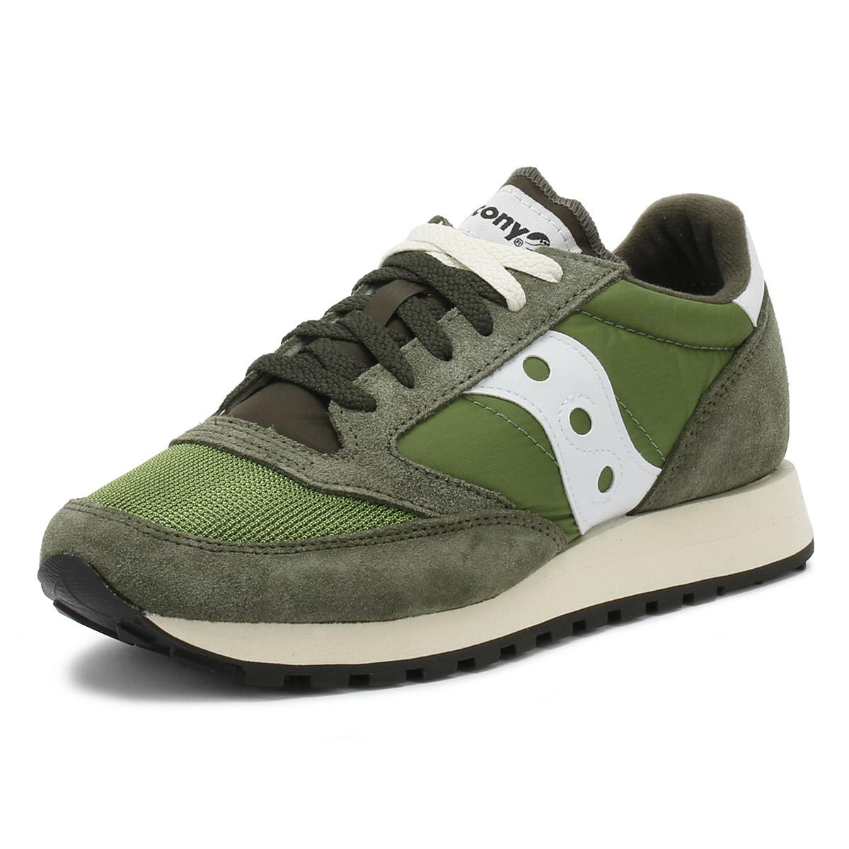 2a1eb4dcf Saucony - Mens Olive Green   Grey Jazz Original Vintage Trainers for Men -  Lyst. View fullscreen