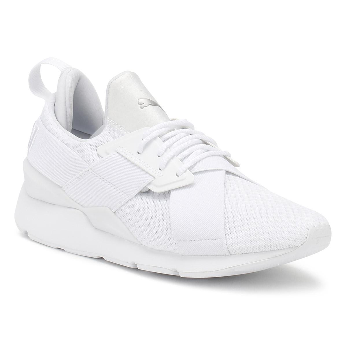 c8b2148d16d PUMA Womens White Muse X-strap Ep Trainers in White - Lyst