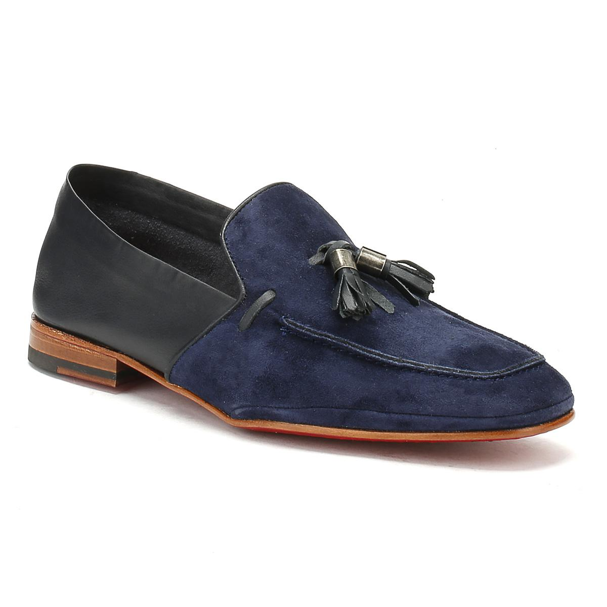 Mens Croste Bovino Dark Blue Martini Mule Loafer