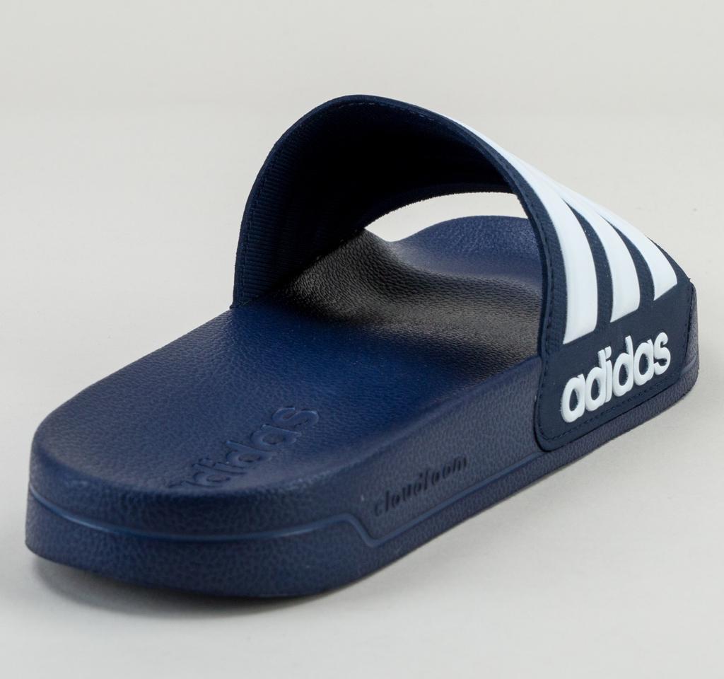 the best attitude 32ccb 5d6e1 Adidas - Blue Adilette Shower Aq1703 Navy-wht-navy Sandals for Men - Lyst.  View fullscreen