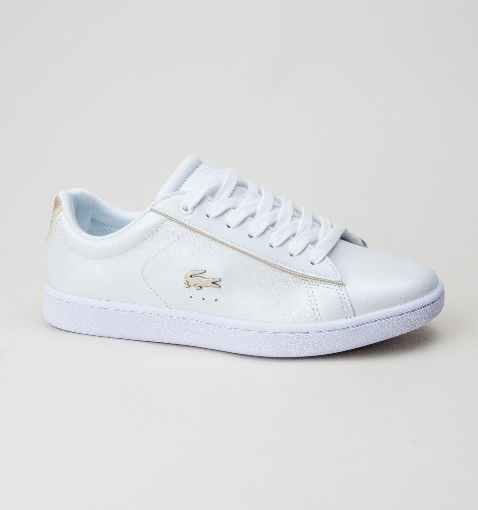 529eb45db Lacoste Carnaby Evo 118 6 Spw Wht-gld Trainers in White - Lyst