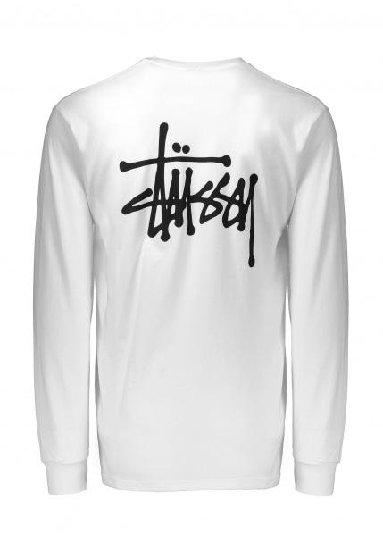 33627ae6a14 Stussy Basic Ls Tee in White for Men - Lyst