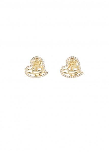 2889eed9b Vivienne Westwood Giuseppa Stud Earrings in Metallic - Lyst