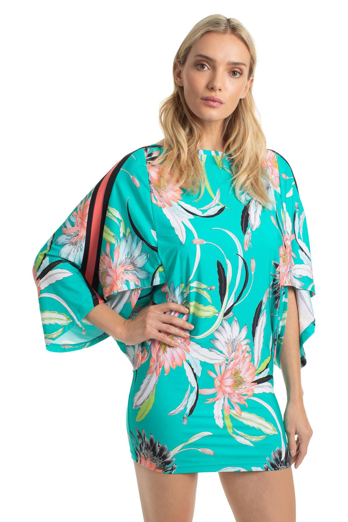 3fabe707ebc Trina Turk Shangri La Floral Tunic in Red - Lyst
