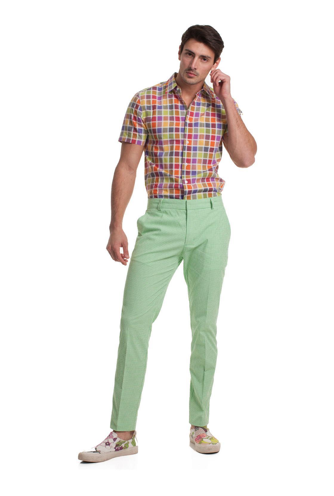 b71d661b831 Mr Turk Clyde Slim Trouser in Green for Men - Lyst