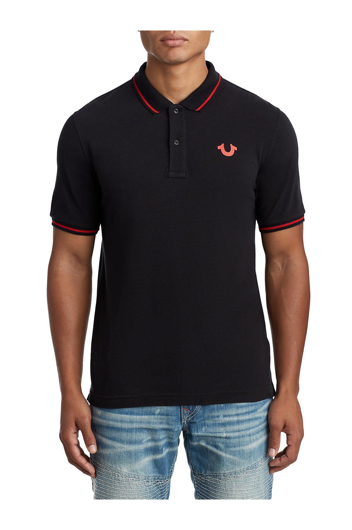 577e15f0 True Religion Classic Buddha Polo Shirt in Black for Men - Lyst