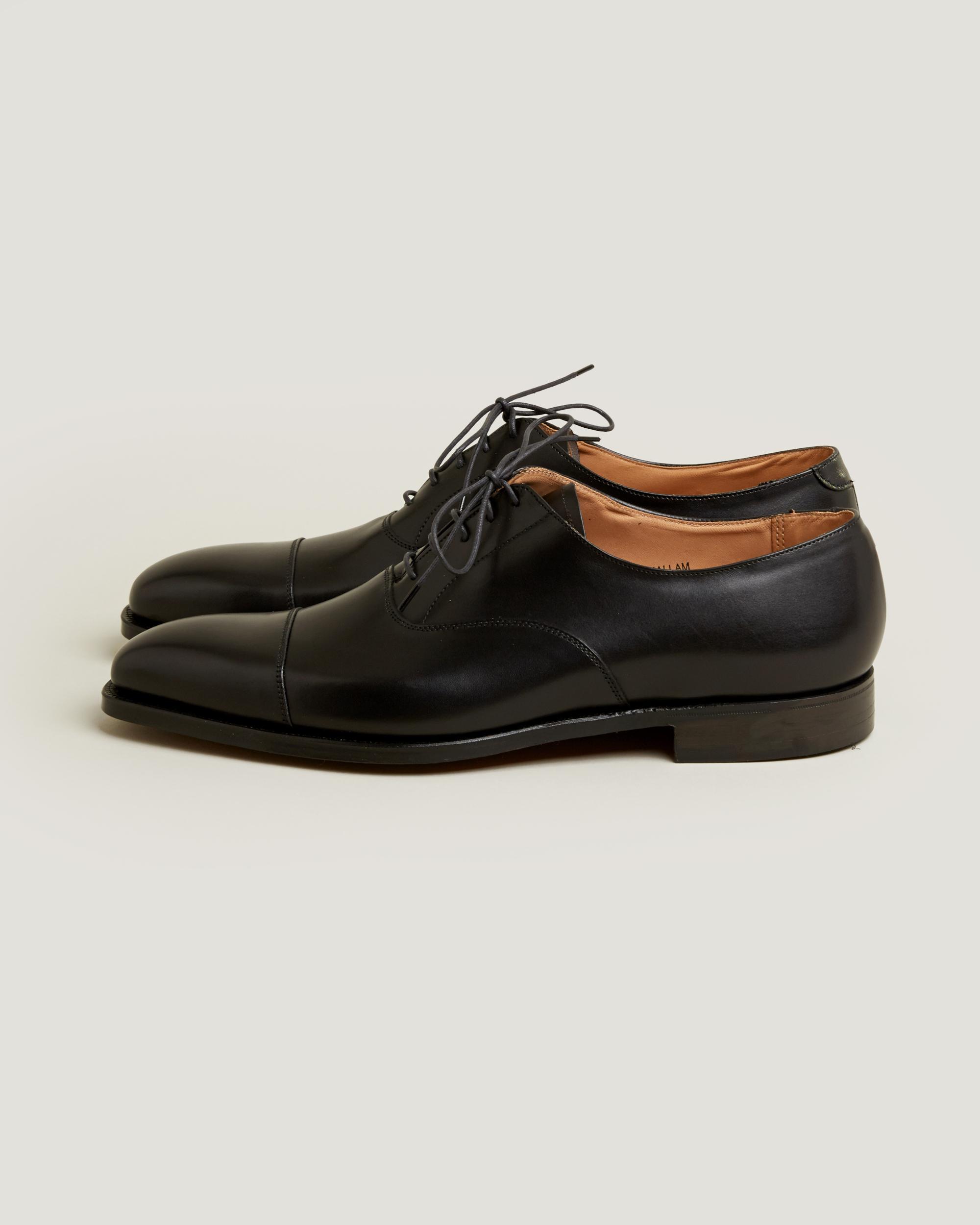 Hallam Calf Leather Oxford Shoes Dark Black Crockett & Jones GxGdUUSNf
