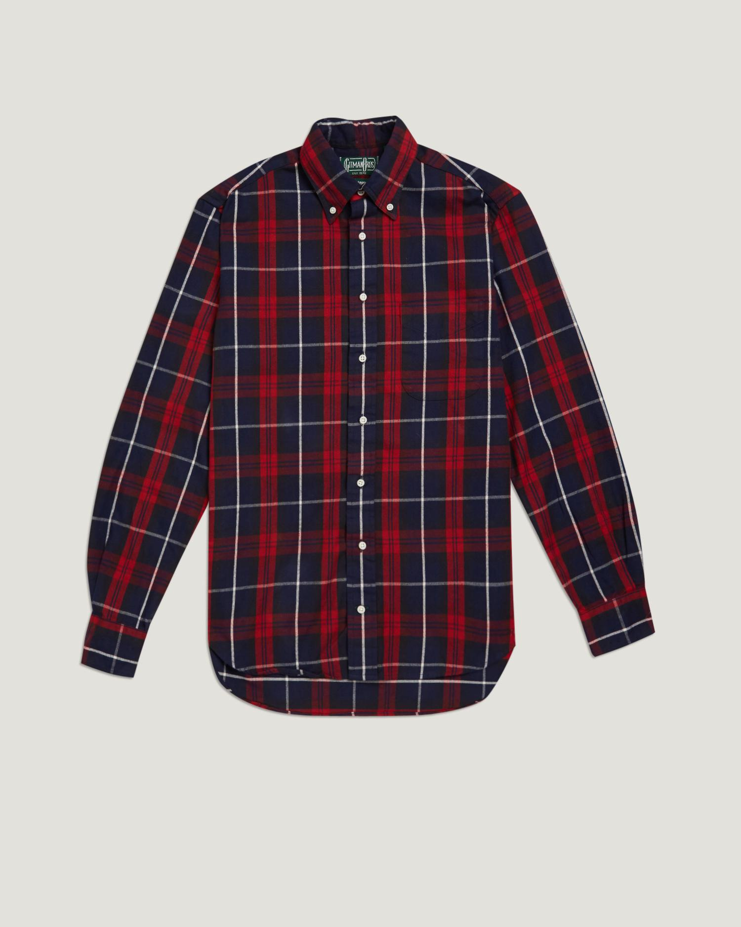 Lyst gitman brothers vintage checked flannel shirt in for Places to buy flannel shirts