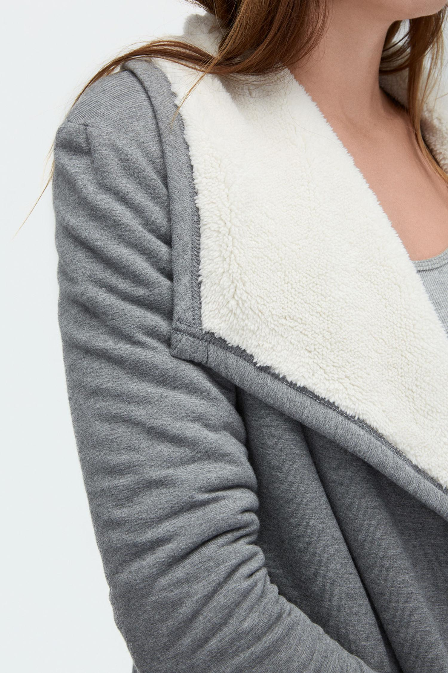 Ugg Women's Sherpa Lined Shawl Cardigan in Gray | Lyst