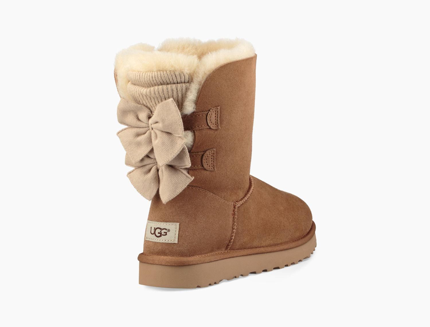 UGG. Brown Women's Bailey Bow Short ...