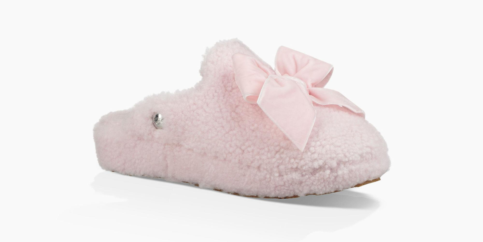 5a881d62b4c Ugg Pink Addison Velvet Bow Slipper Addison Velvet Bow Slipper