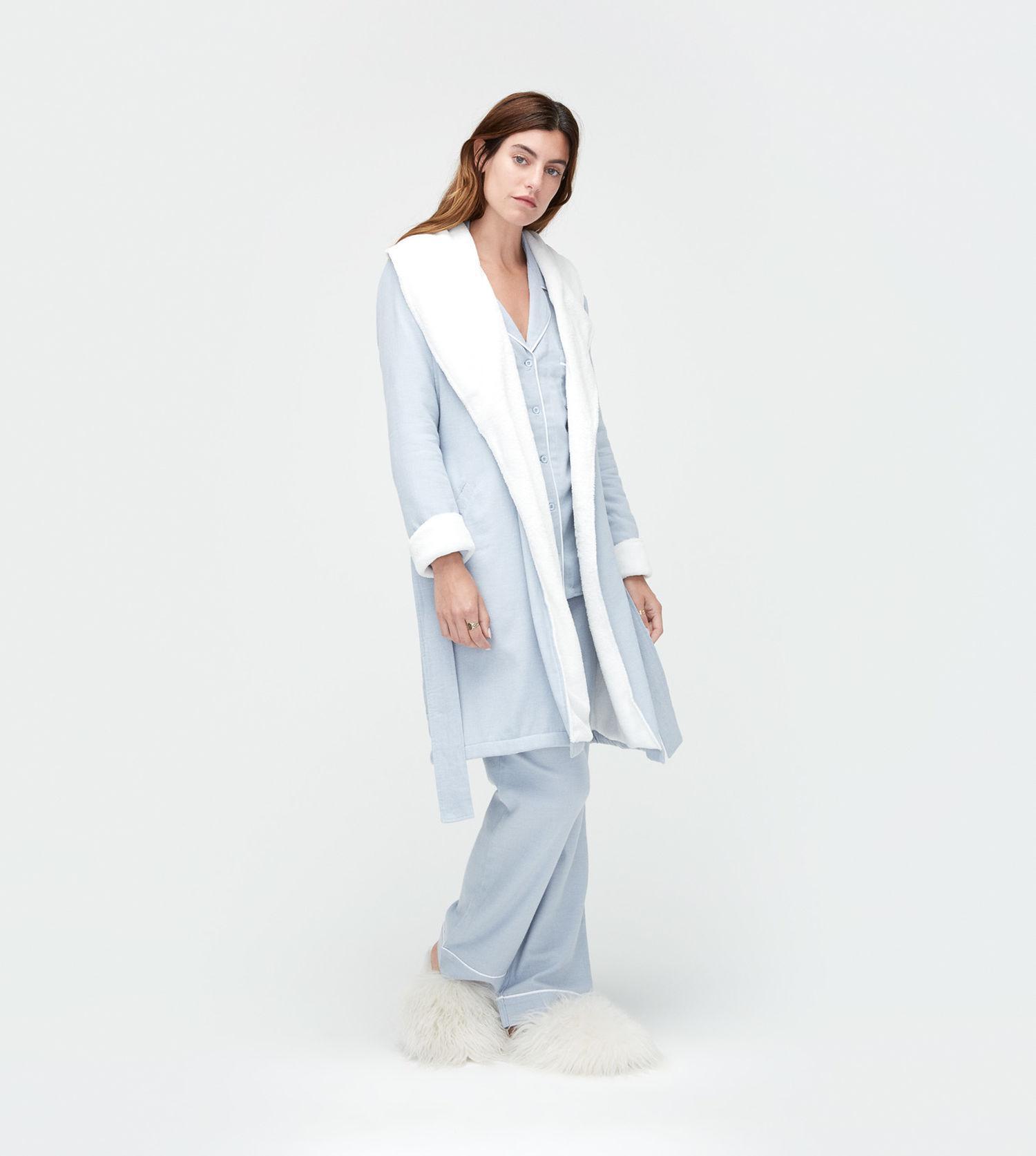 Lyst - UGG Women s Anika Herringbone Robe in Blue 087ee227e