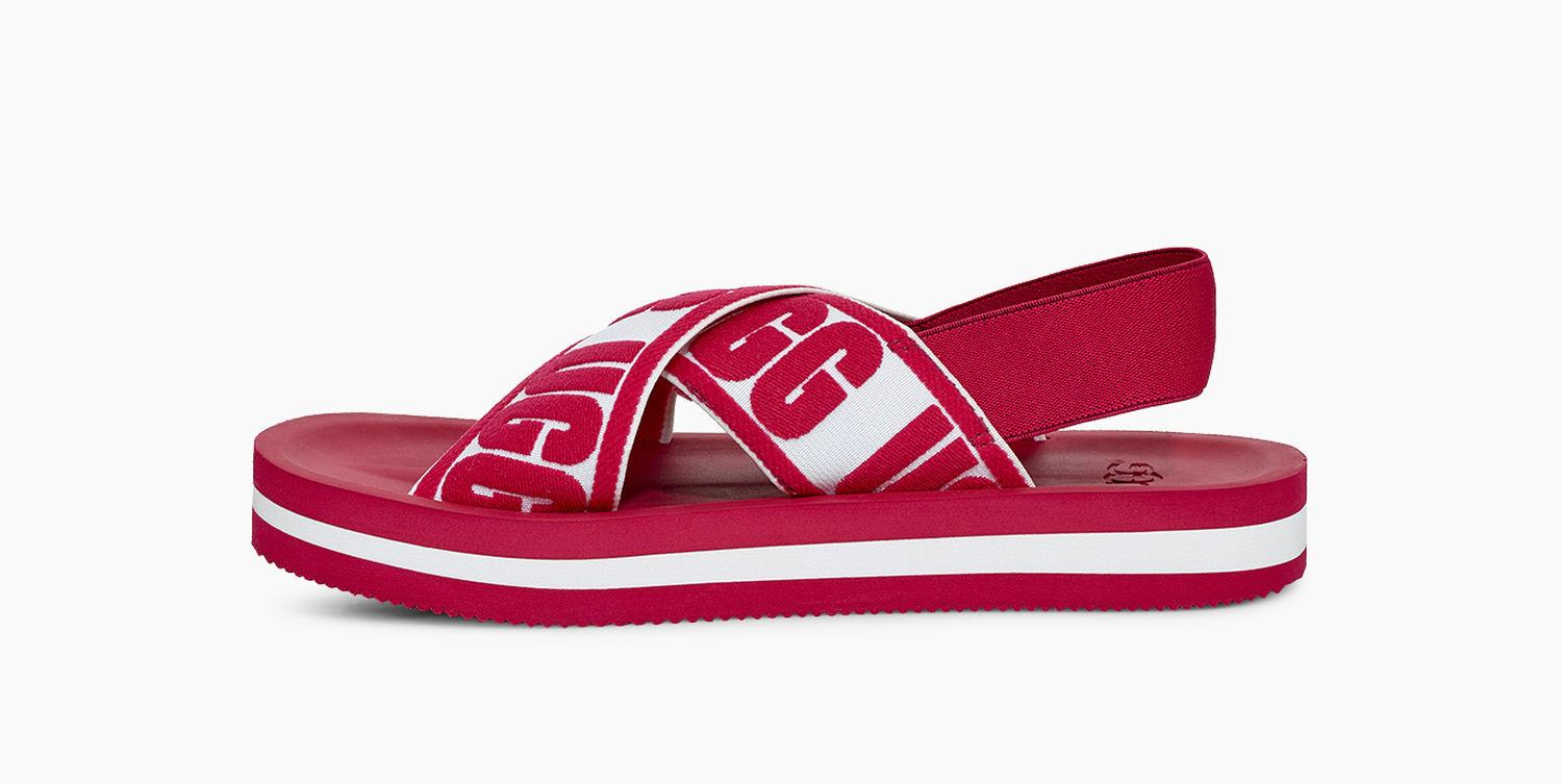 79253c448267 Ugg - Red Marmont Graphic Sandal Marmont Graphic Sandal - Lyst. View  fullscreen