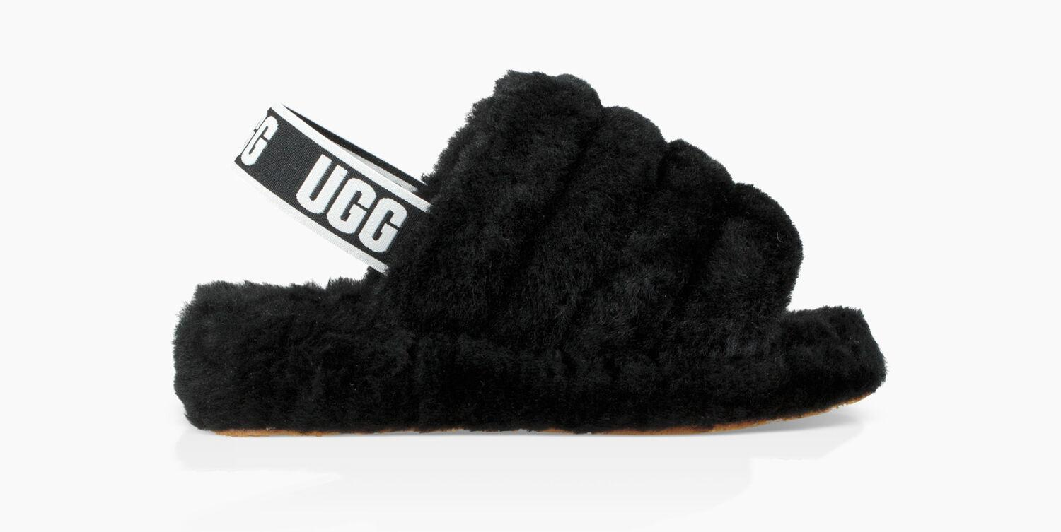07b9d0fae UGG Fluff Yeah Slides in Black - Save 34% - Lyst