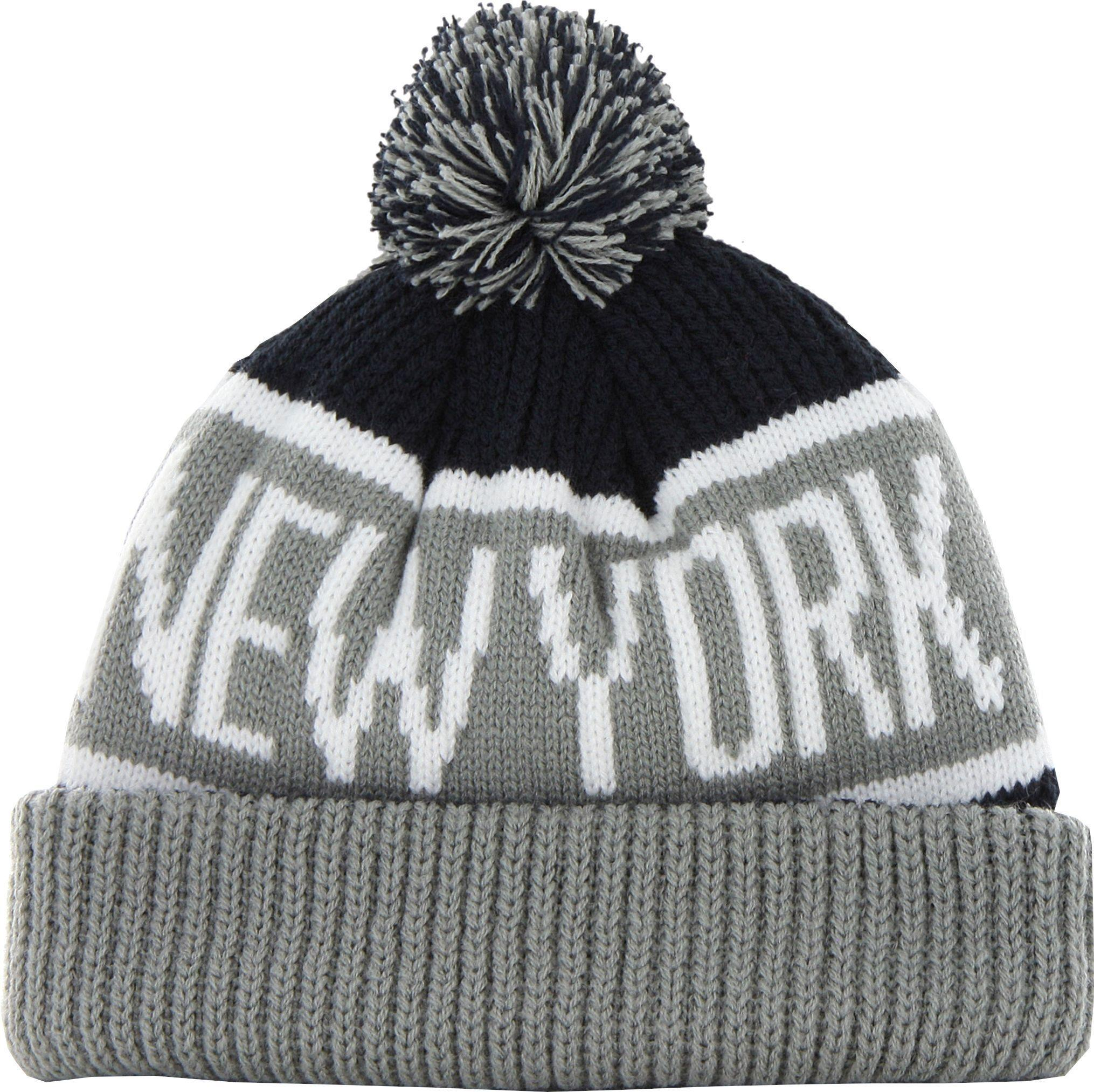 1424e60e25d 47 Brand - Gray New York Yankees  47 Calgary Knitted Bobble Beanie Hat -  Lyst. View fullscreen