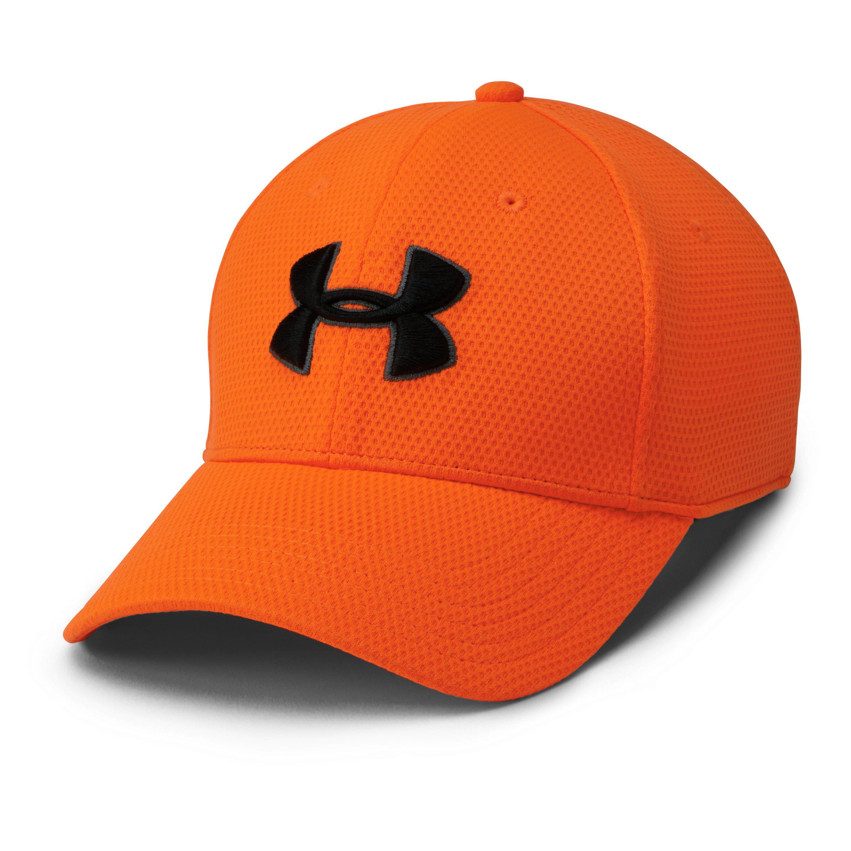 new product 0fda7 3ca2d Under Armour Men s Ua Blitzing Ii Stretch Fit Cap in Orange for Men ...