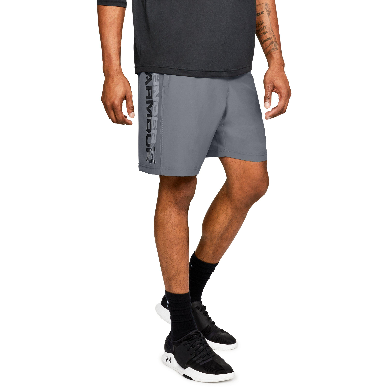 2c8fcea8df02 Lyst - Under Armour Men s Ua Woven Graphic Wordmark Shorts in Gray ...
