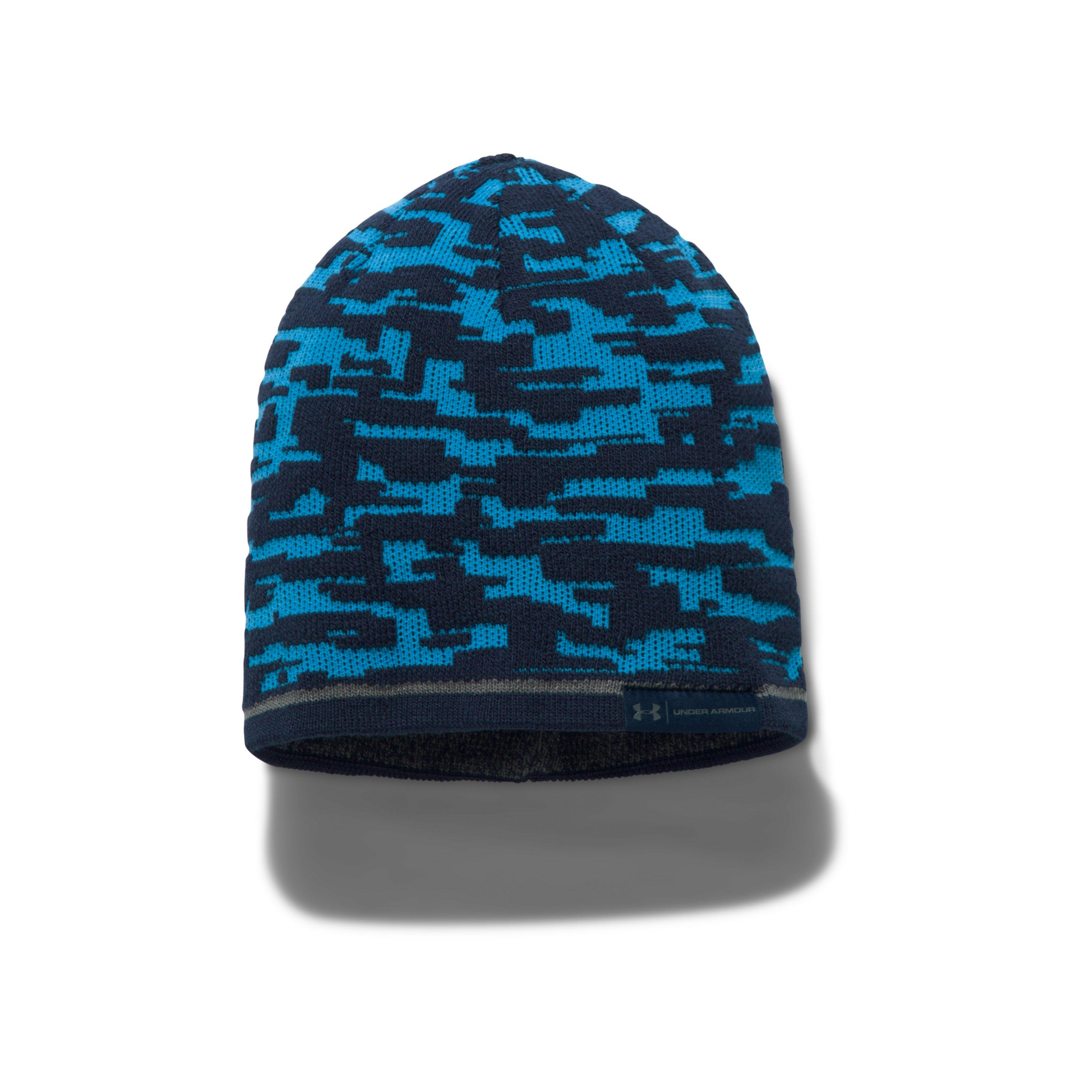 Lyst - Under Armour Men s Ua Reversible Graphic Beanie in Blue for Men ba395a0a6b82