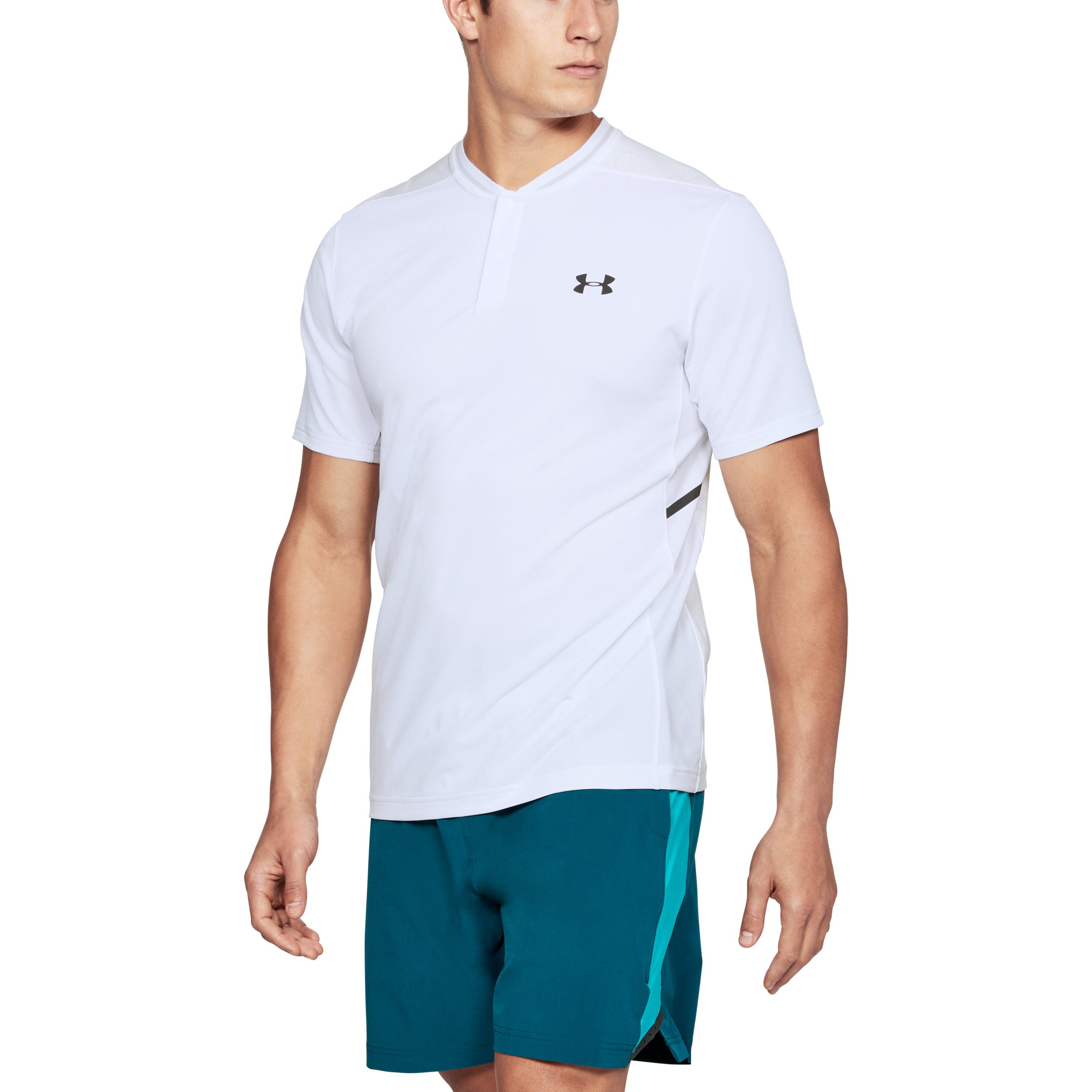 9b843b32 Under Armour Men's Ua Forge Polo in White for Men - Lyst