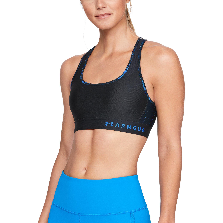 a8c9db151cb0b Lyst - Under Armour Women s Armour® Mid Crossback Print Sports Bra ...
