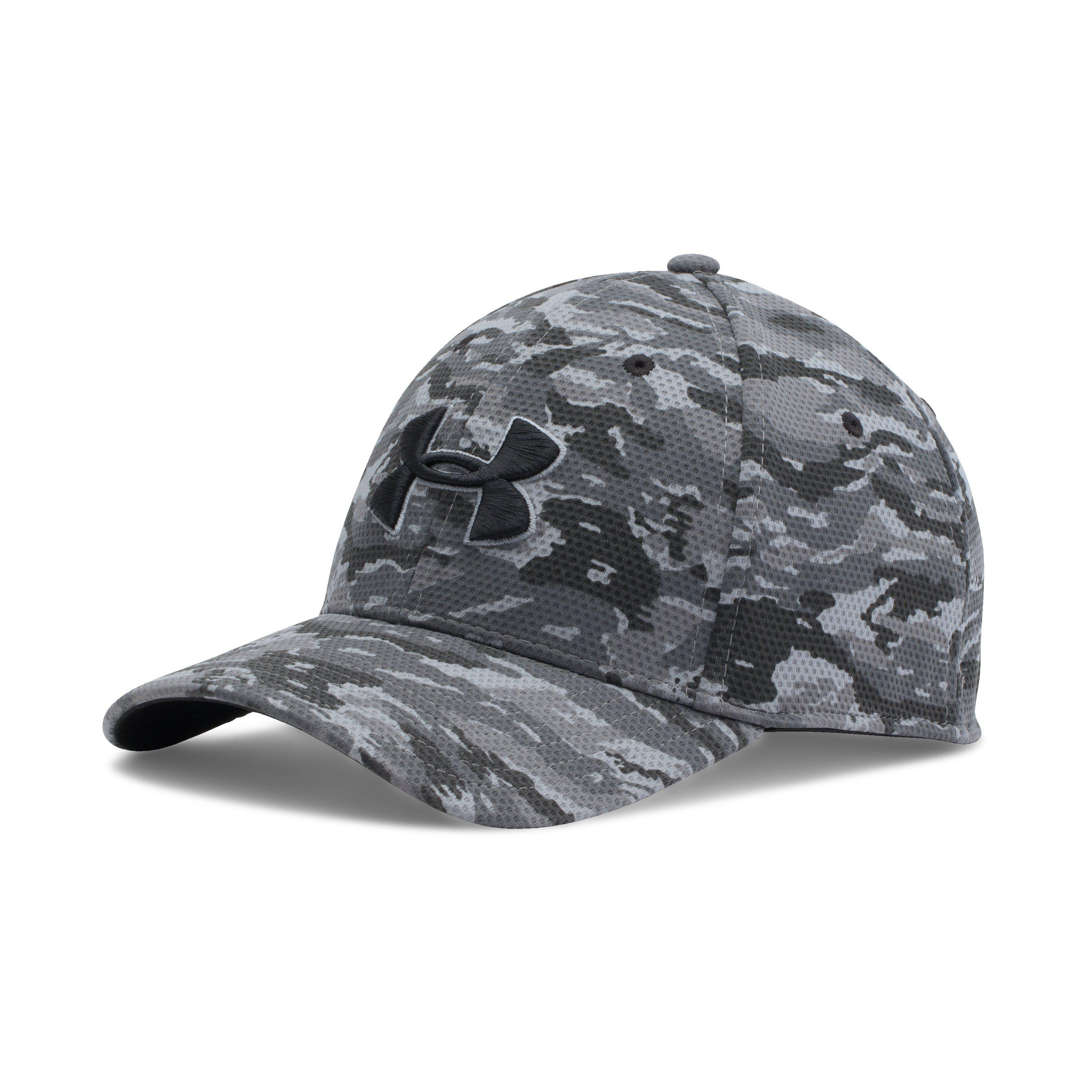 pretty nice 79762 1703c Under Armour Men s Ua Printed Blitzing Stretch Fit Cap in Gray for ...