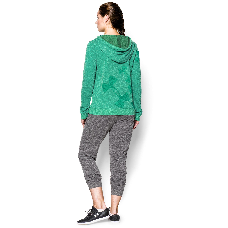 b35f4e6f0f Lyst - Under Armour Women's Ua Kaleidelogo Pullover Hoodie in Green