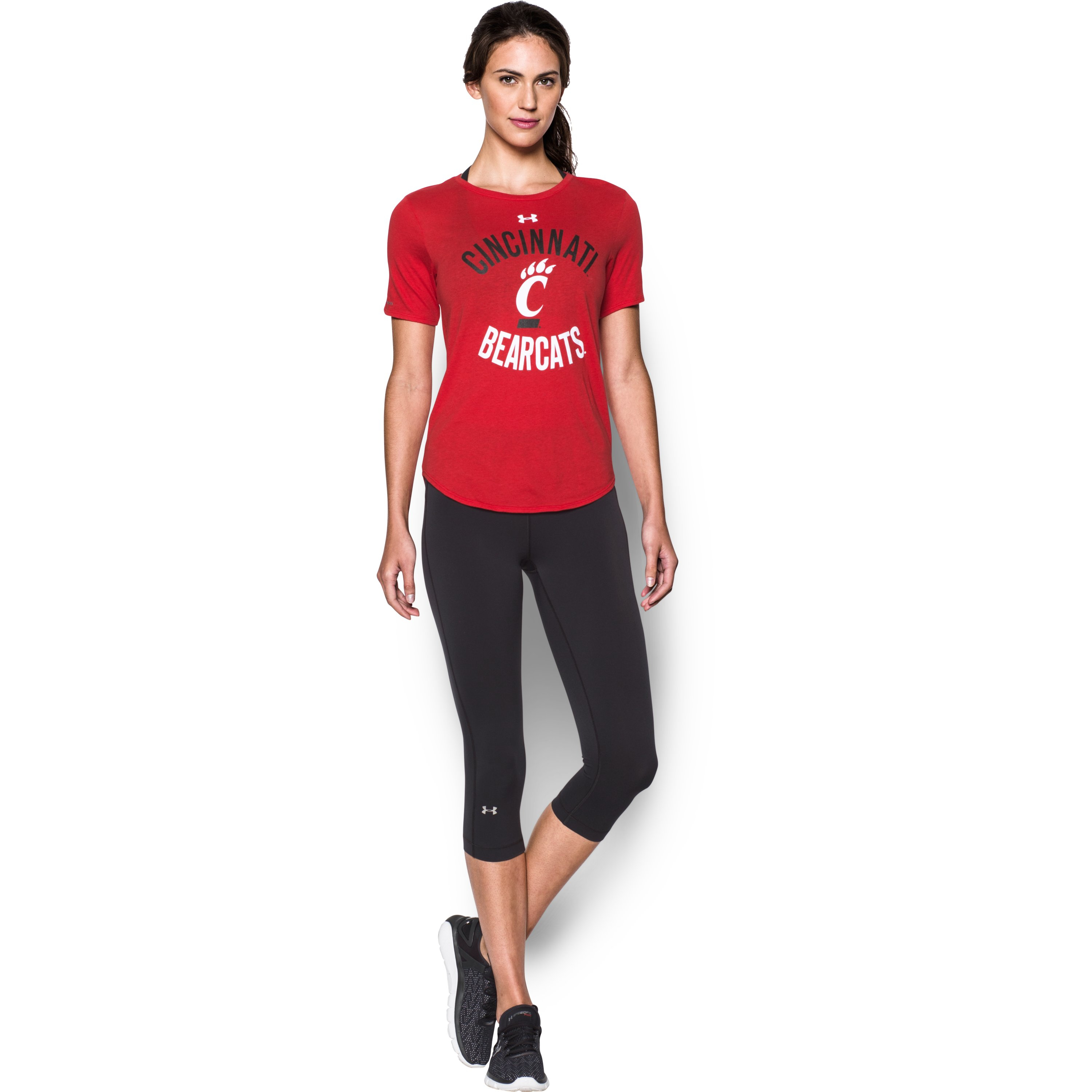 Lyst under armour women 39 s cincinnati charged cotton for Thrilla in manila shirt under armour