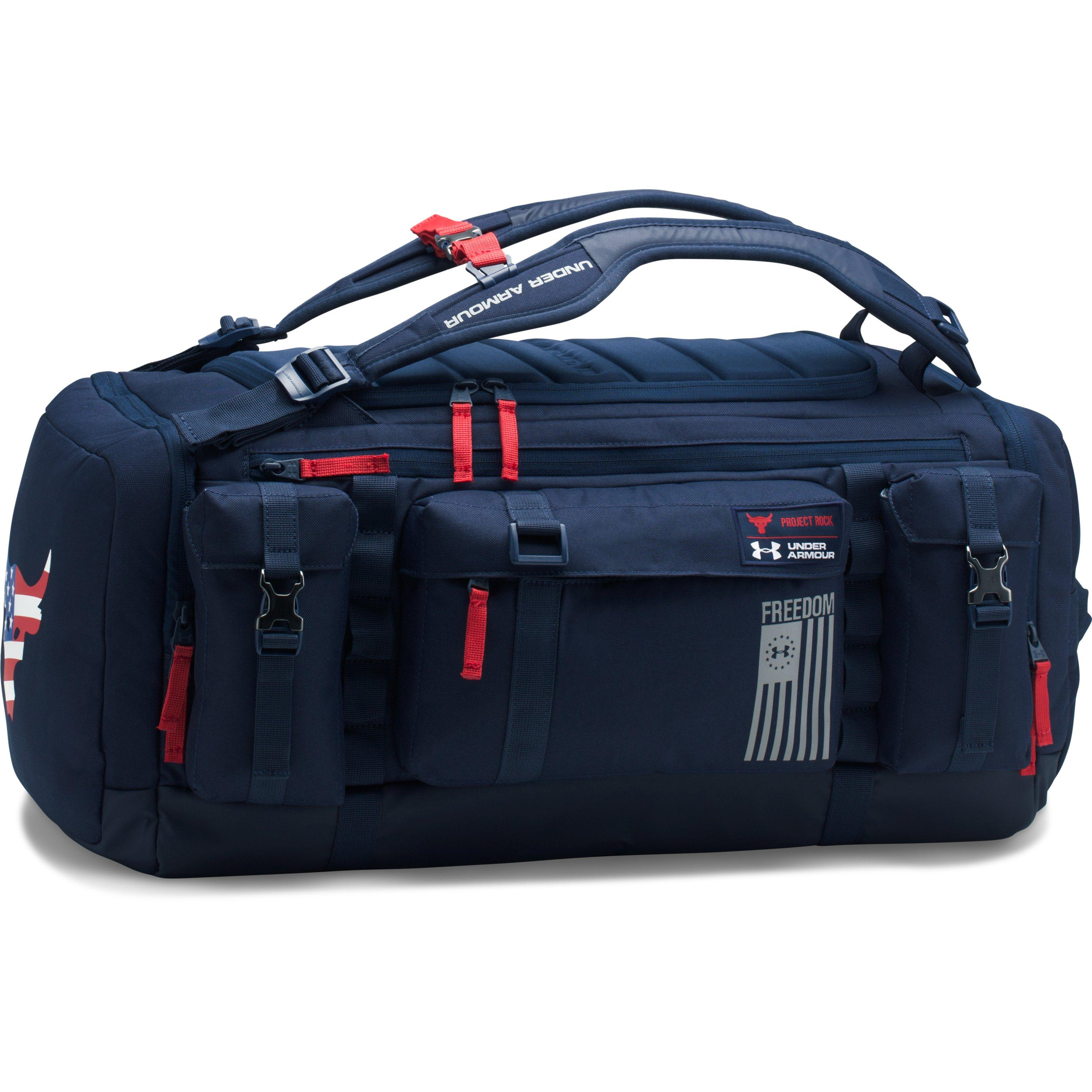 Lyst - Under Armour Ua X Project Rock Freedom Range Duffle in Blue ... cc973aa6357e6