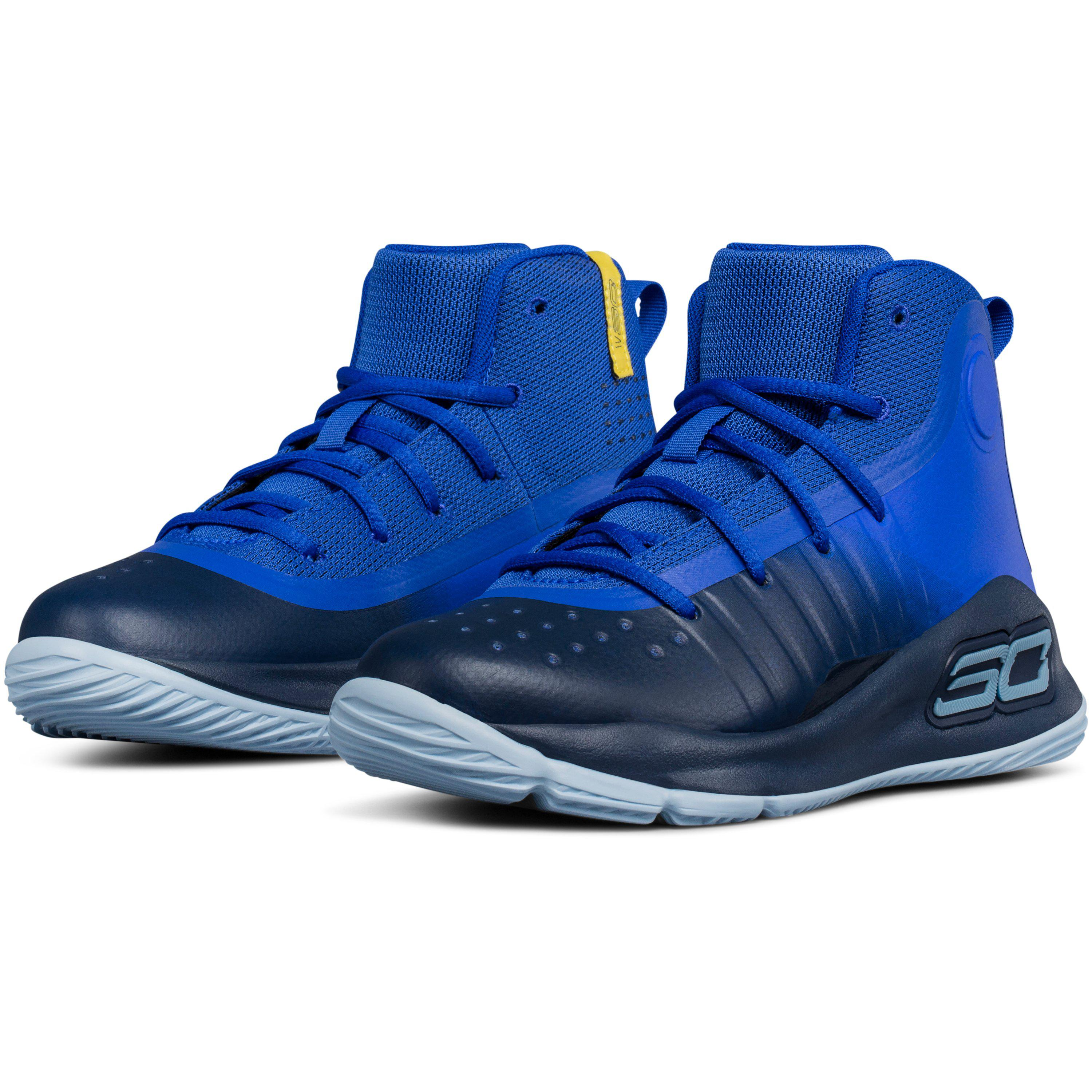 d3e058132b7 Under Armour Pre-school Ua Curry 4 Mid Basketball Shoes in Blue for ...