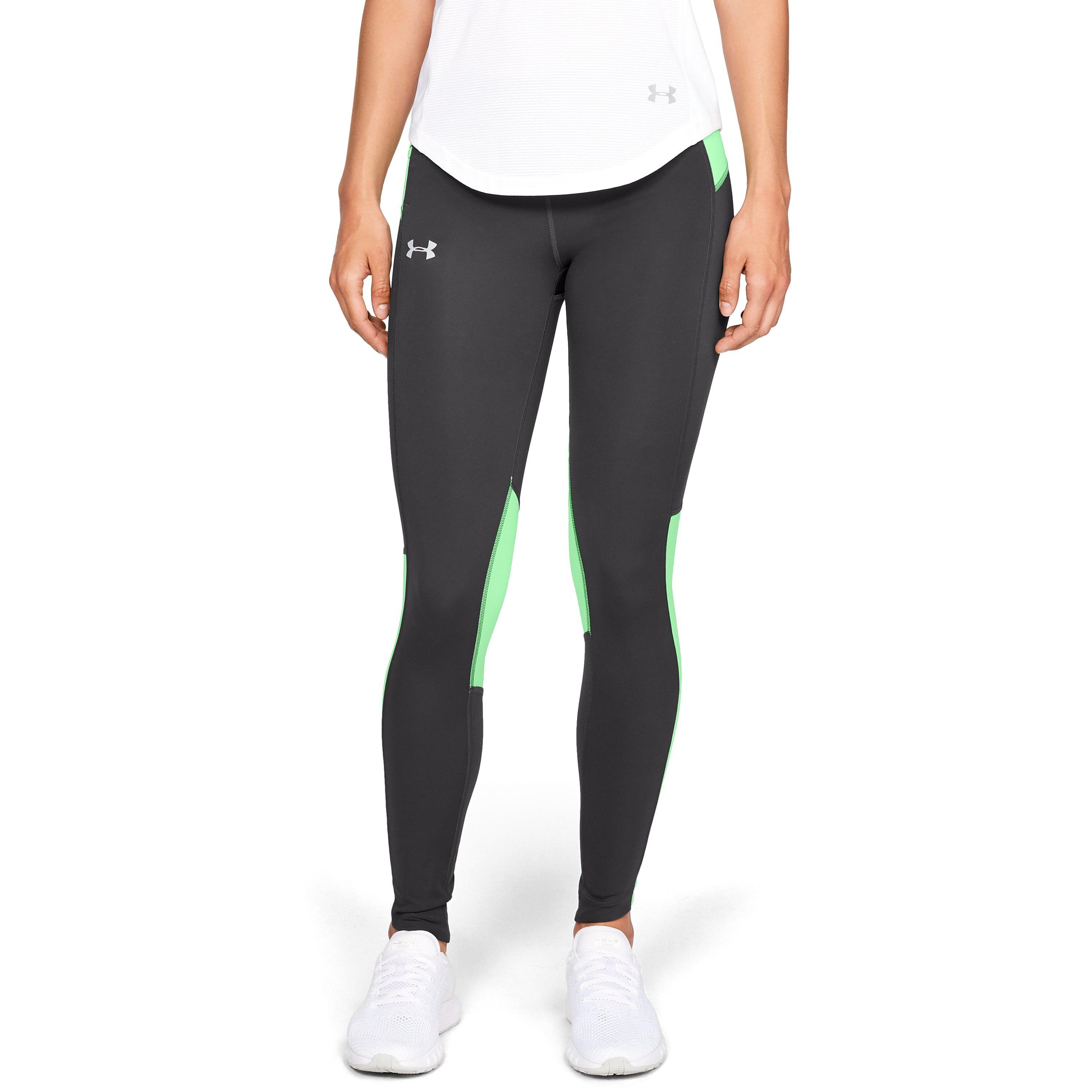 3fad87a87f606d Under Armour Women's Ua Outrun The Storm Tights in Gray - Lyst