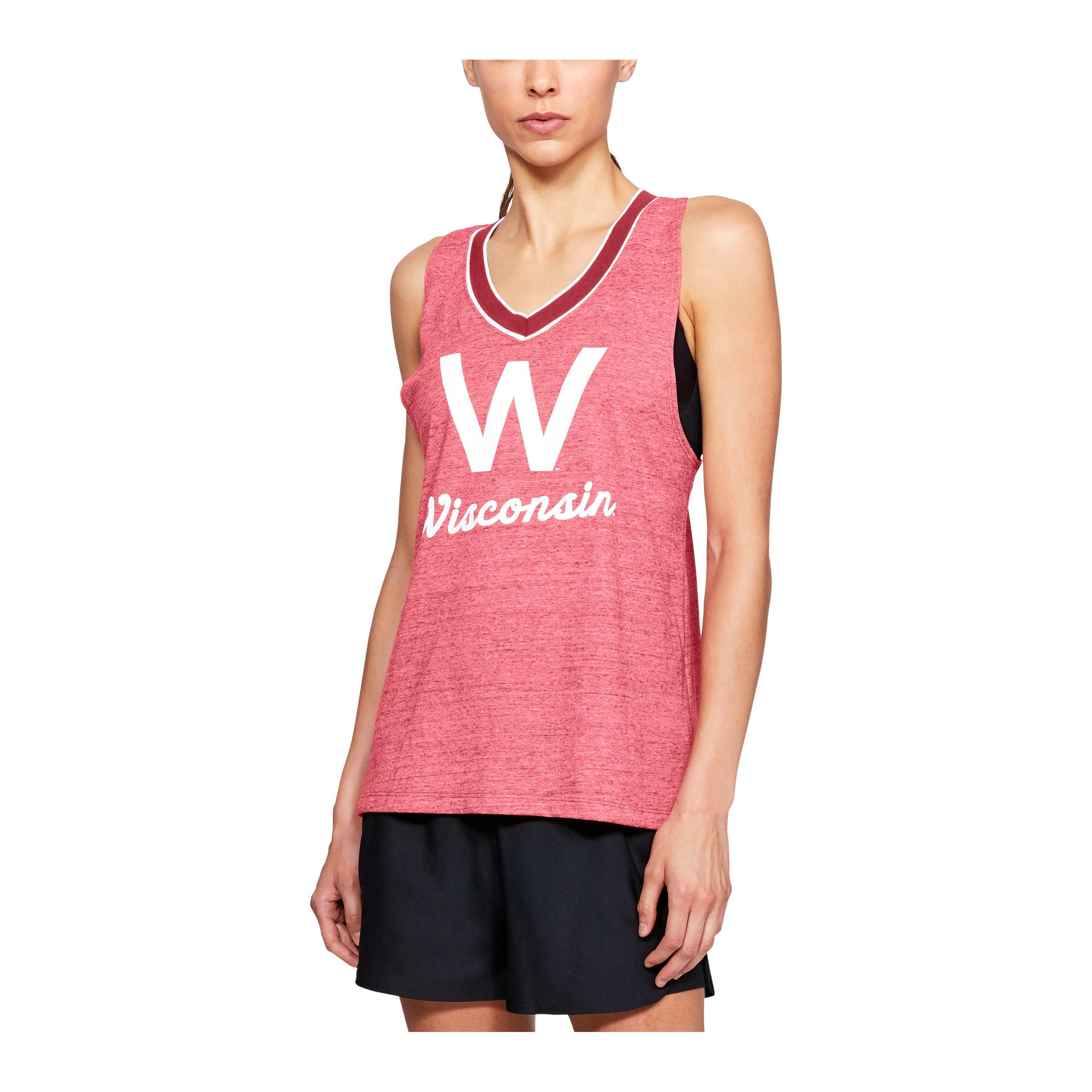 be826463df6c8f Lyst - Under Armour Women s Ua Iconic Neppy Collegiate Tank in Pink