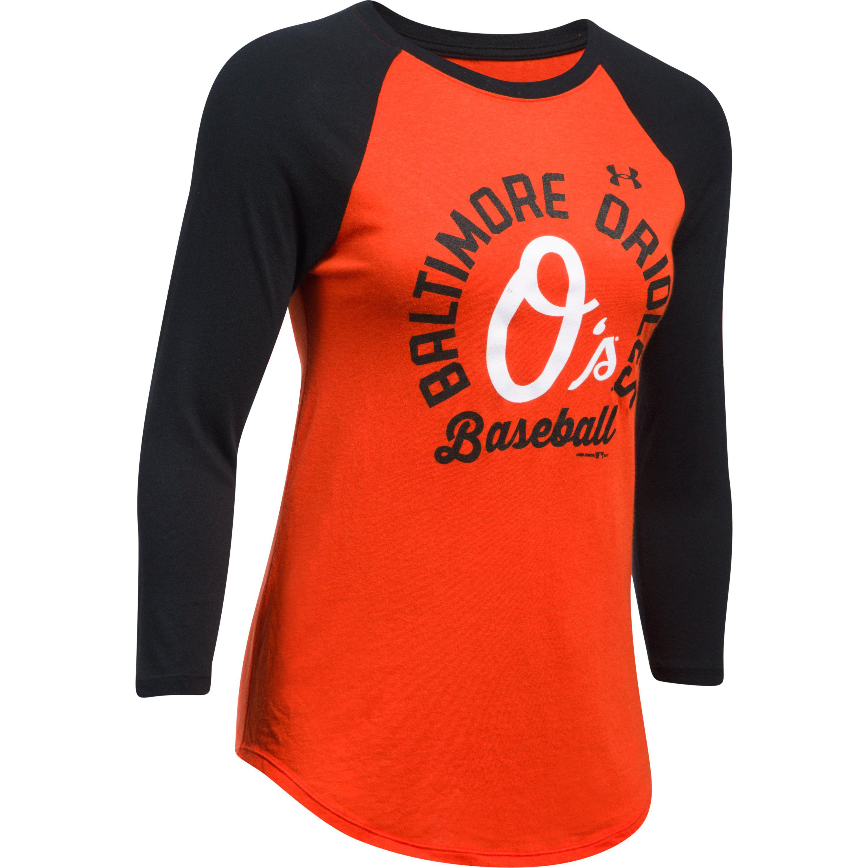 Lyst - Under Armour Women s Baltimore Orioles 3 4 Sleeve T-shirt in ... f59186981