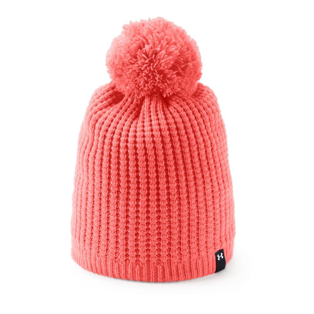 657a37016d771 Lyst - Under Armour Favorite Waffle Pom Beanie in Red