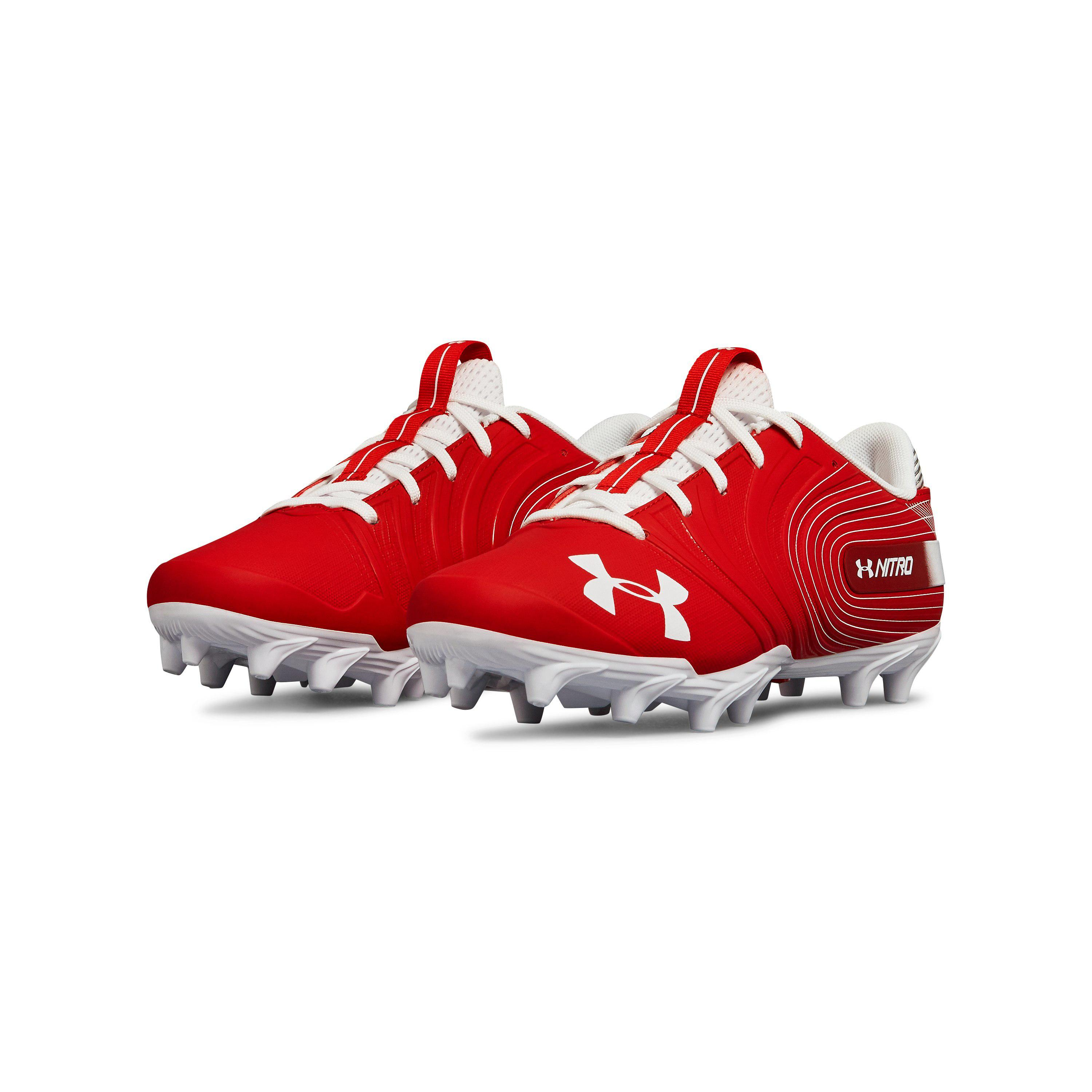 14903e4a48da Under Armour Men's Ua Nitro Low Mc Football Cleats in Red for Men - Lyst