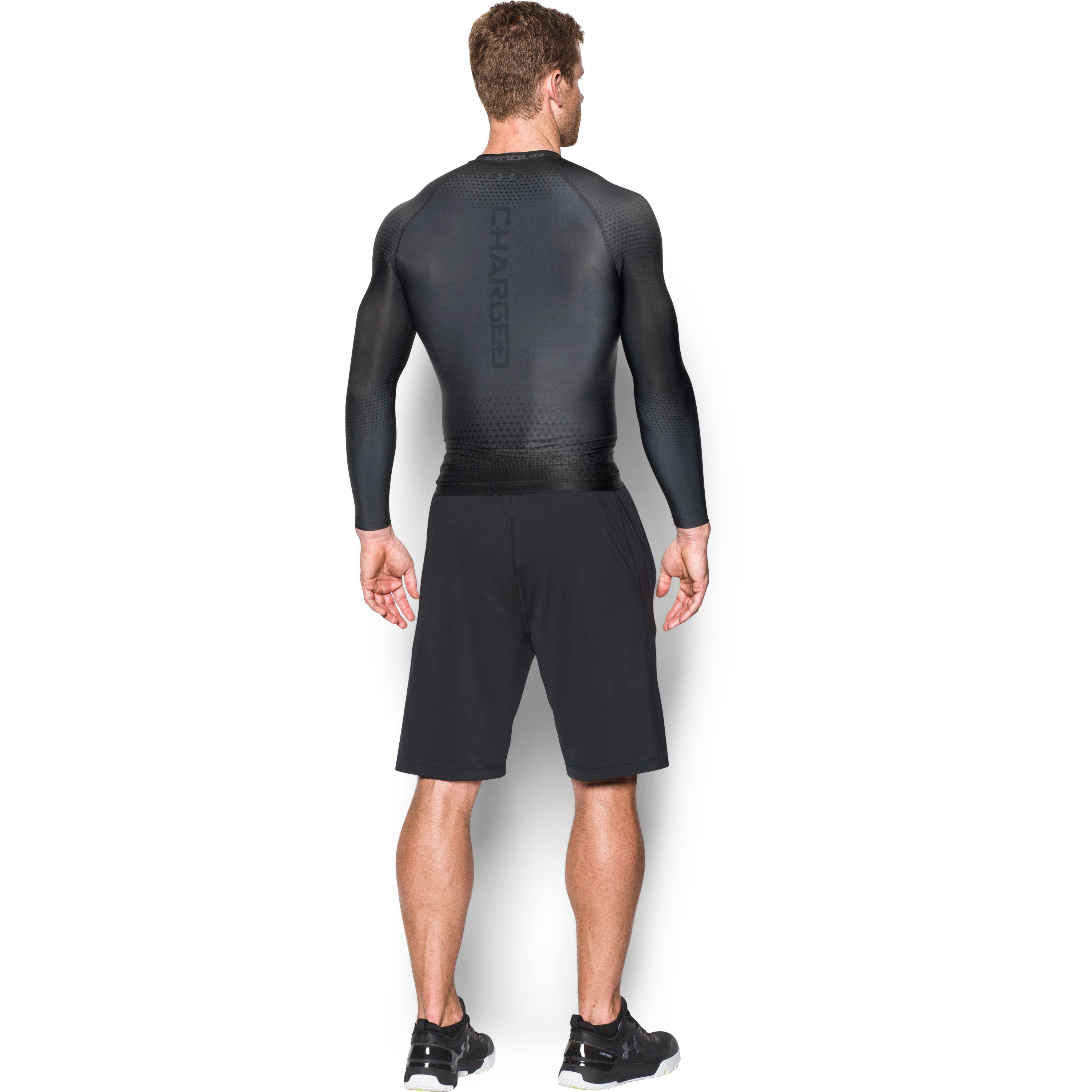 6eb23314f Under Armour Men's Ua Charged Compression Long Sleeve Shirt in Black ...