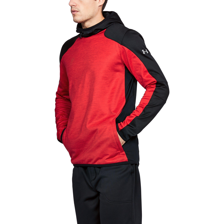 Lyst - Under Armour Men s Coldgear® Reactor Fleece Hoodie in Red for Men 96e27008c