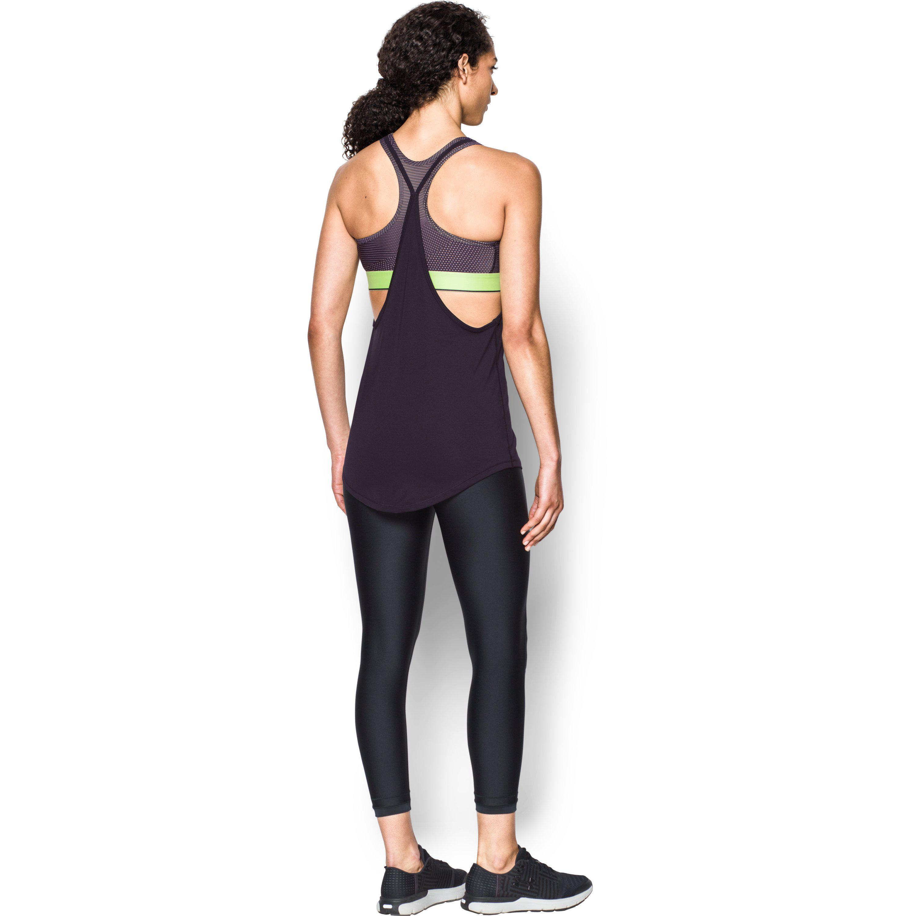 302dabf528d5c Lyst - Under Armour Women s Heatgear® Armour Printed 2-in-1 Tank in ...