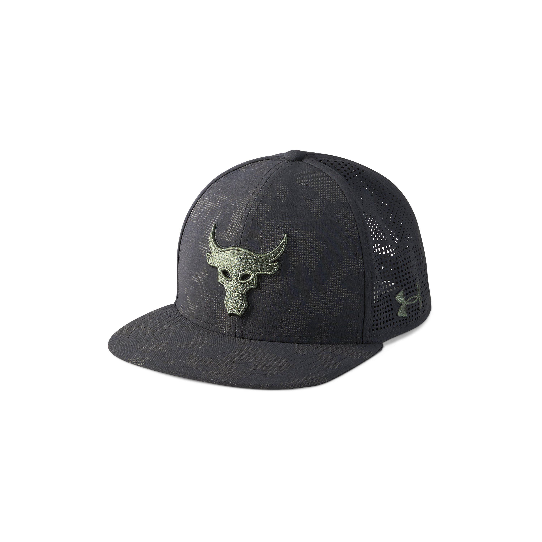 d57fa51b0ea9a ... authentic under armour ua x project rock supervent snapback cap in  black for 8acff 57023