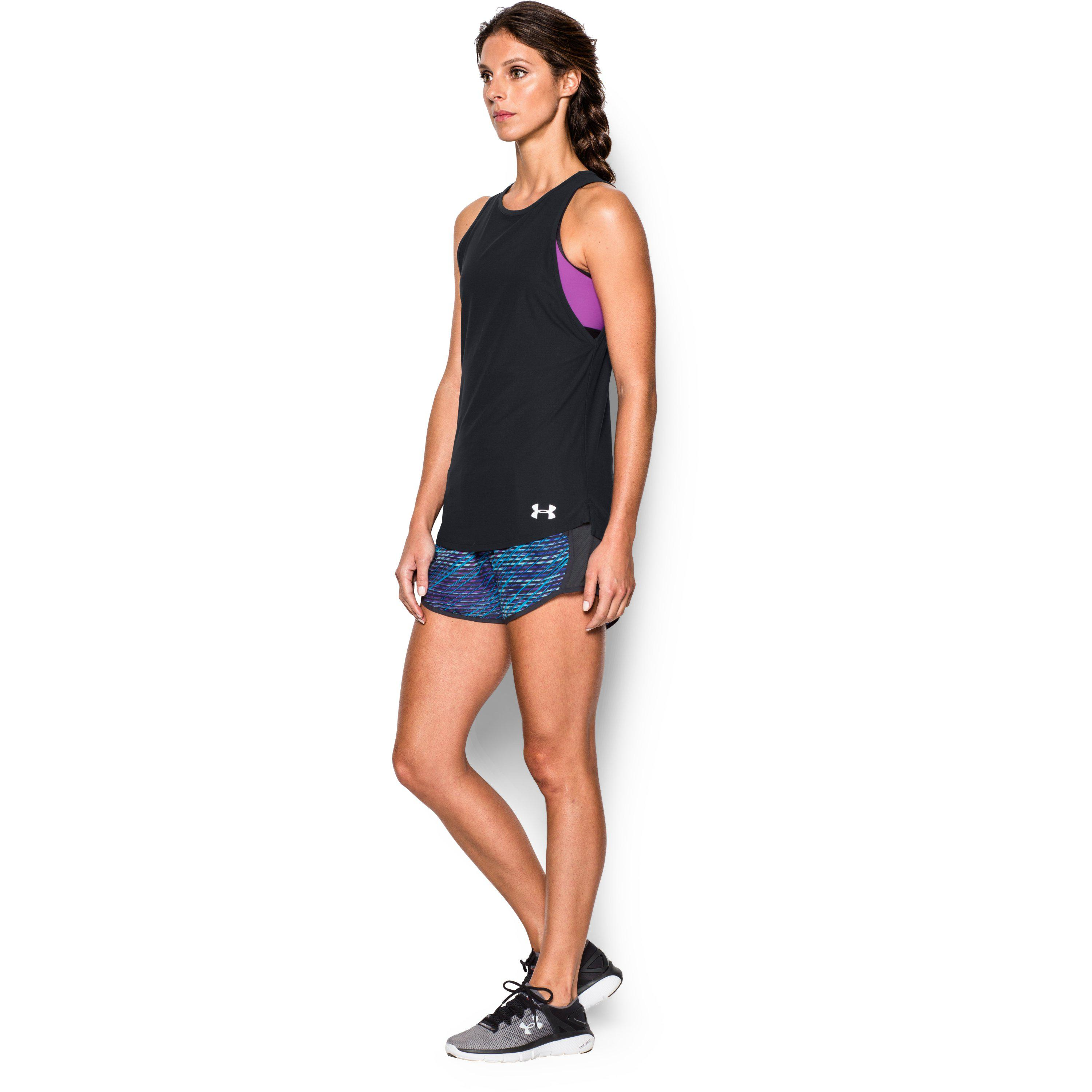 e7c51e178f Lyst - Under Armour Women's Ua Coolswitch Run Tank in Black