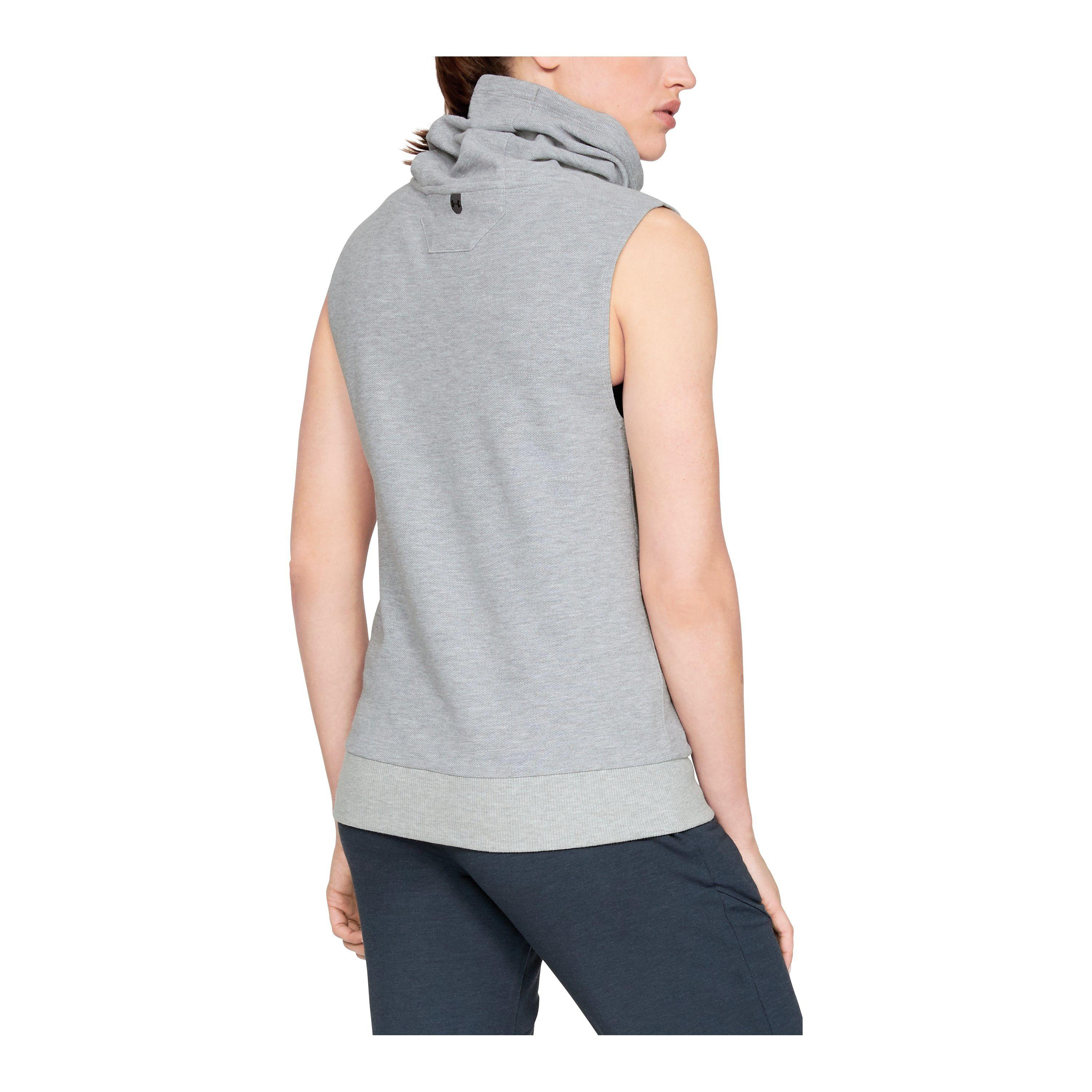 c7fceafb0a Lyst - Under Armour Women's Ua Unstoppable Sleeveless Funnel in Gray