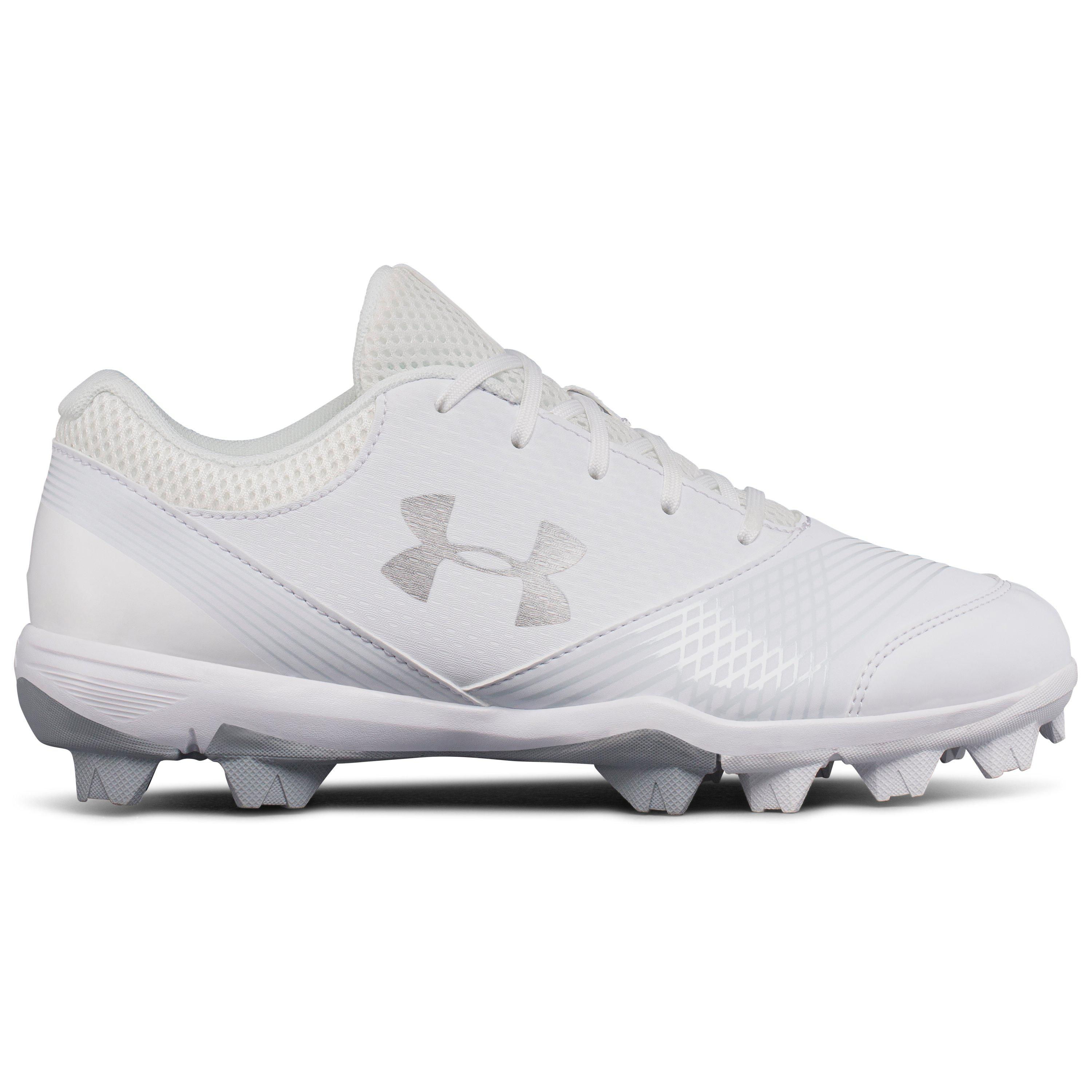 76f48f7e2f0a Under Armour Women's Ua Glyde Rubber Molded Softball Cleats in White ...