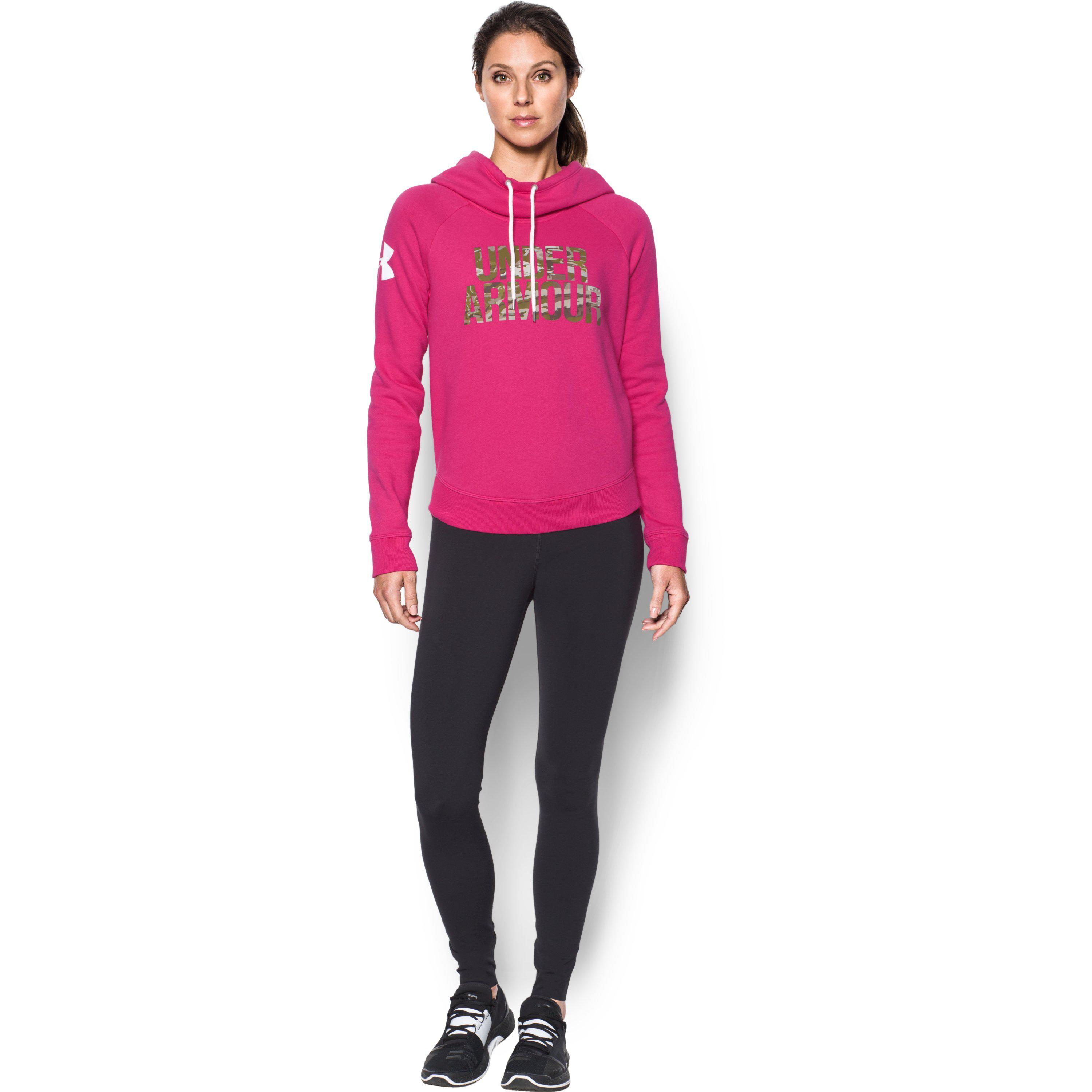 fc331de3fa4 Lyst - Under Armour Women s Ua Favorite Fleece Camo Logo Hoodie in Pink