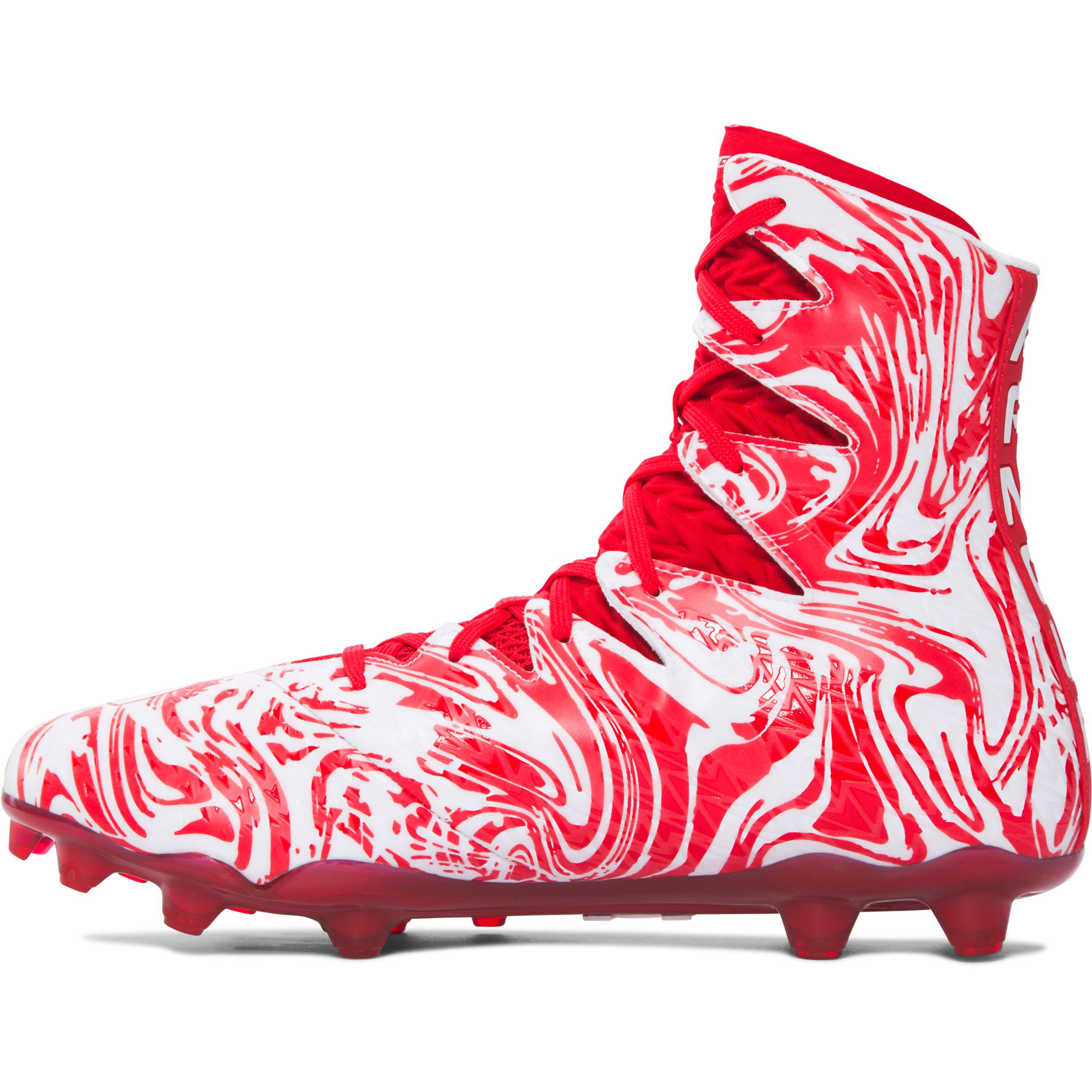 3eaee4cbc ... Lyst - Under Armour Men s Ua Highlight Lux Mc Football Cleats in Red .