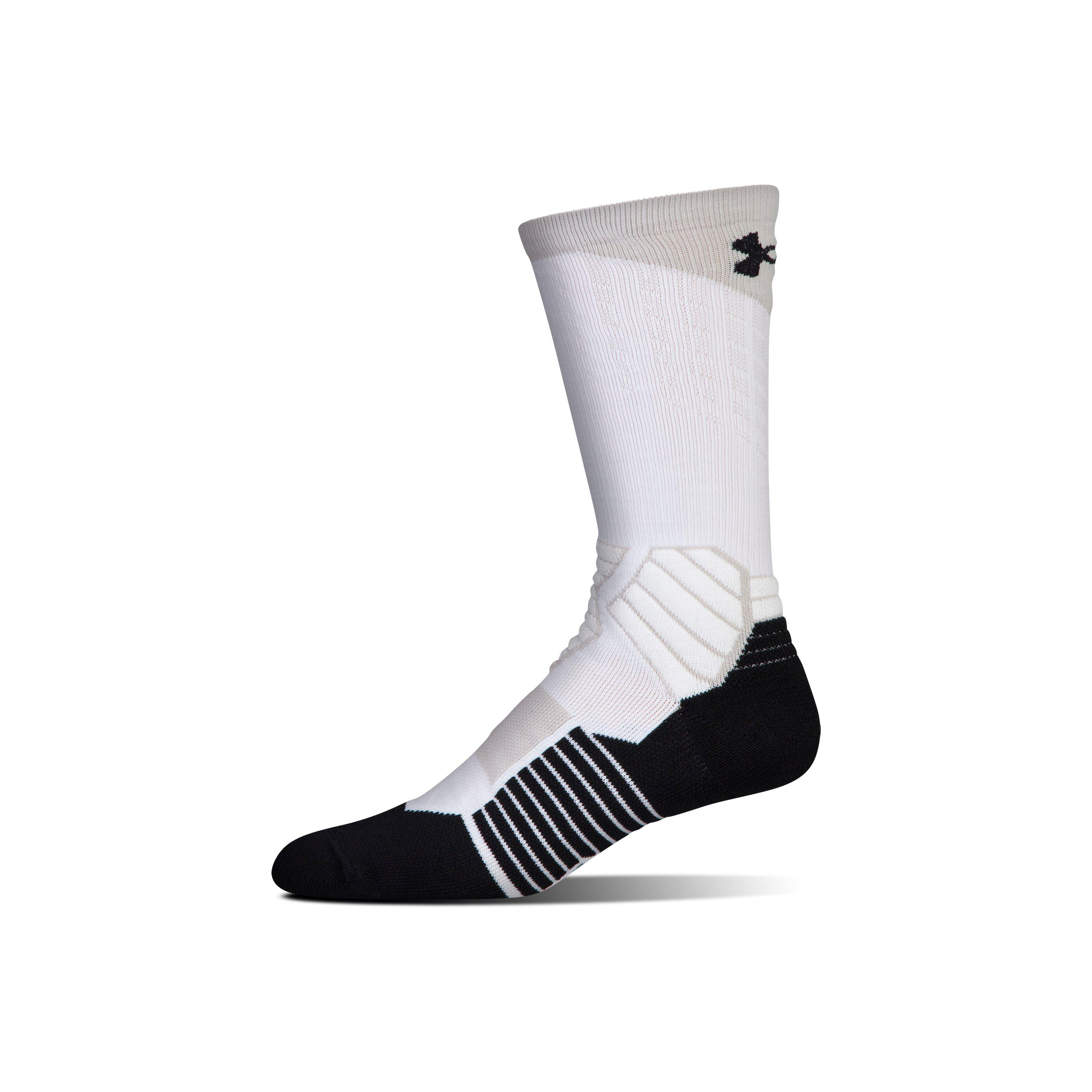 22e03247a14 Lyst Under Armour Men S Ua Basketball Drive Crew Socks In Black