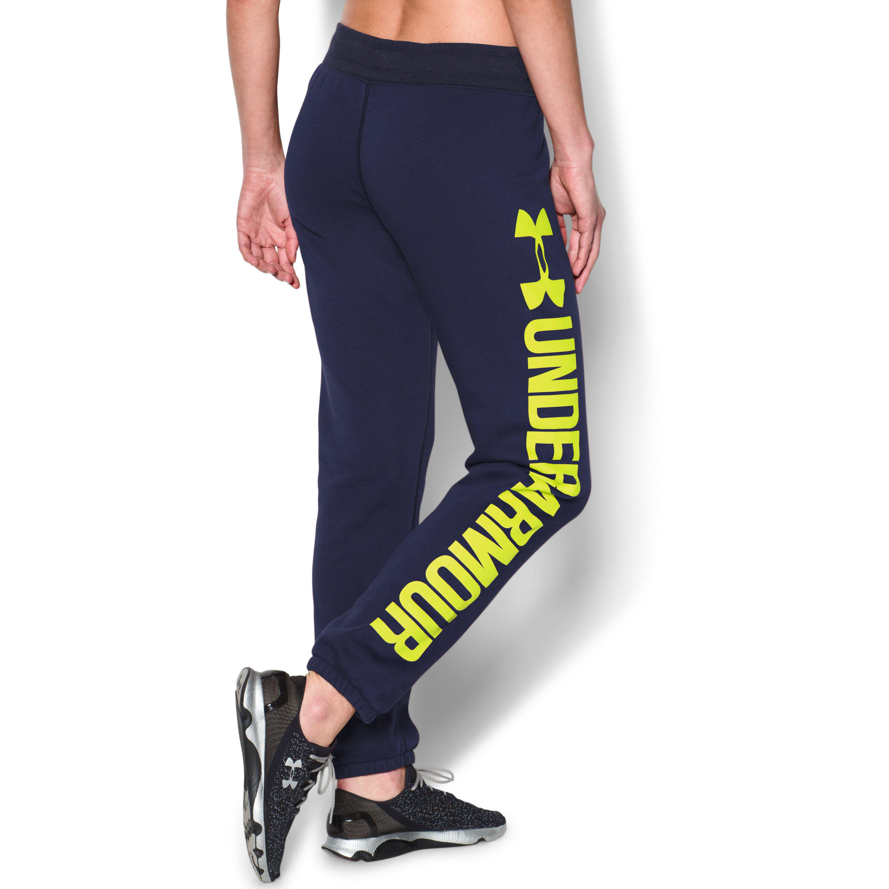 dd580e1cf65 Under Armour Women s Ua Favorite Fleece Word Mark Boyfriend Pant in ...
