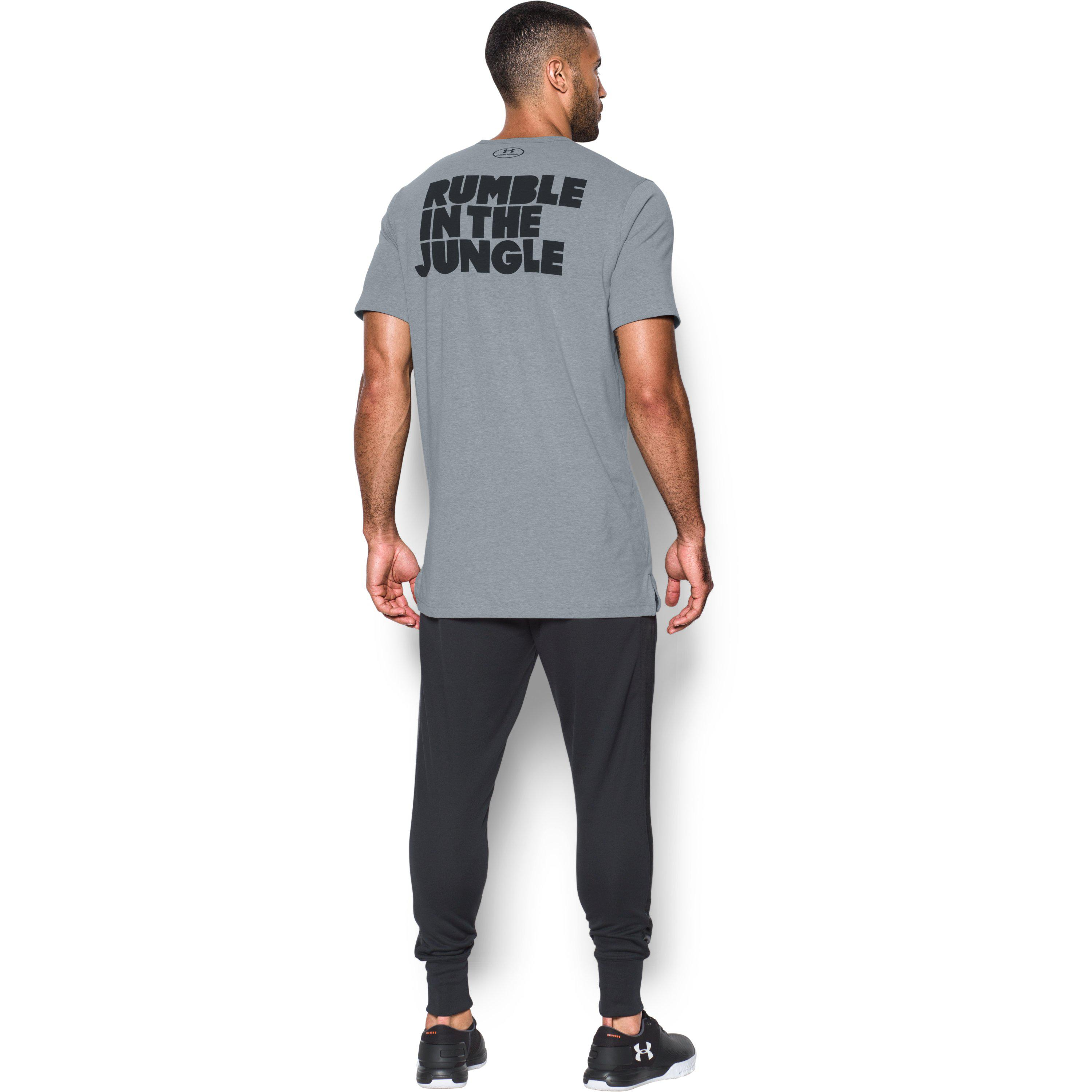 473e2dcd Under Armour Men's Ua X Ali Rumble In The Jungle T-shirt in Gray for ...