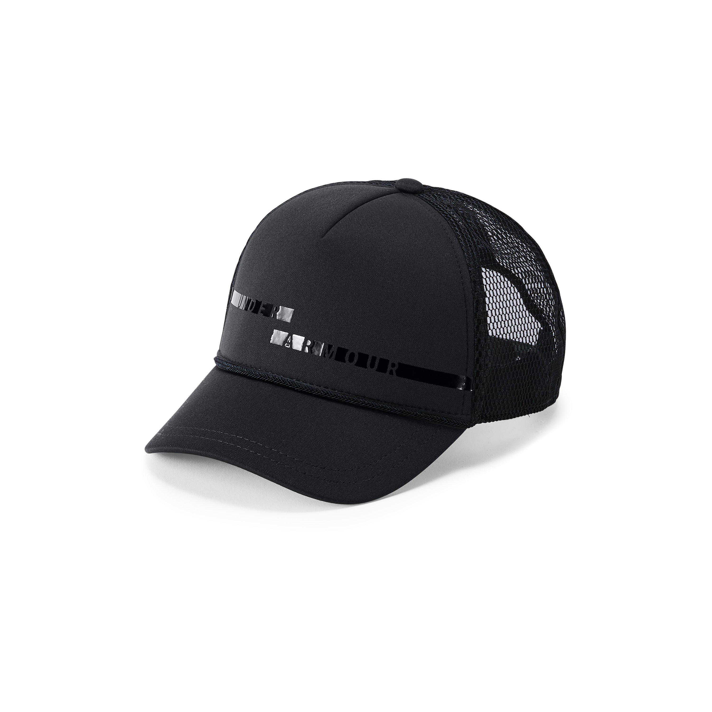 buy online e5e8a 022b0 Under Armour Women s Ua Graphic Trucker Cap in Black - Lyst