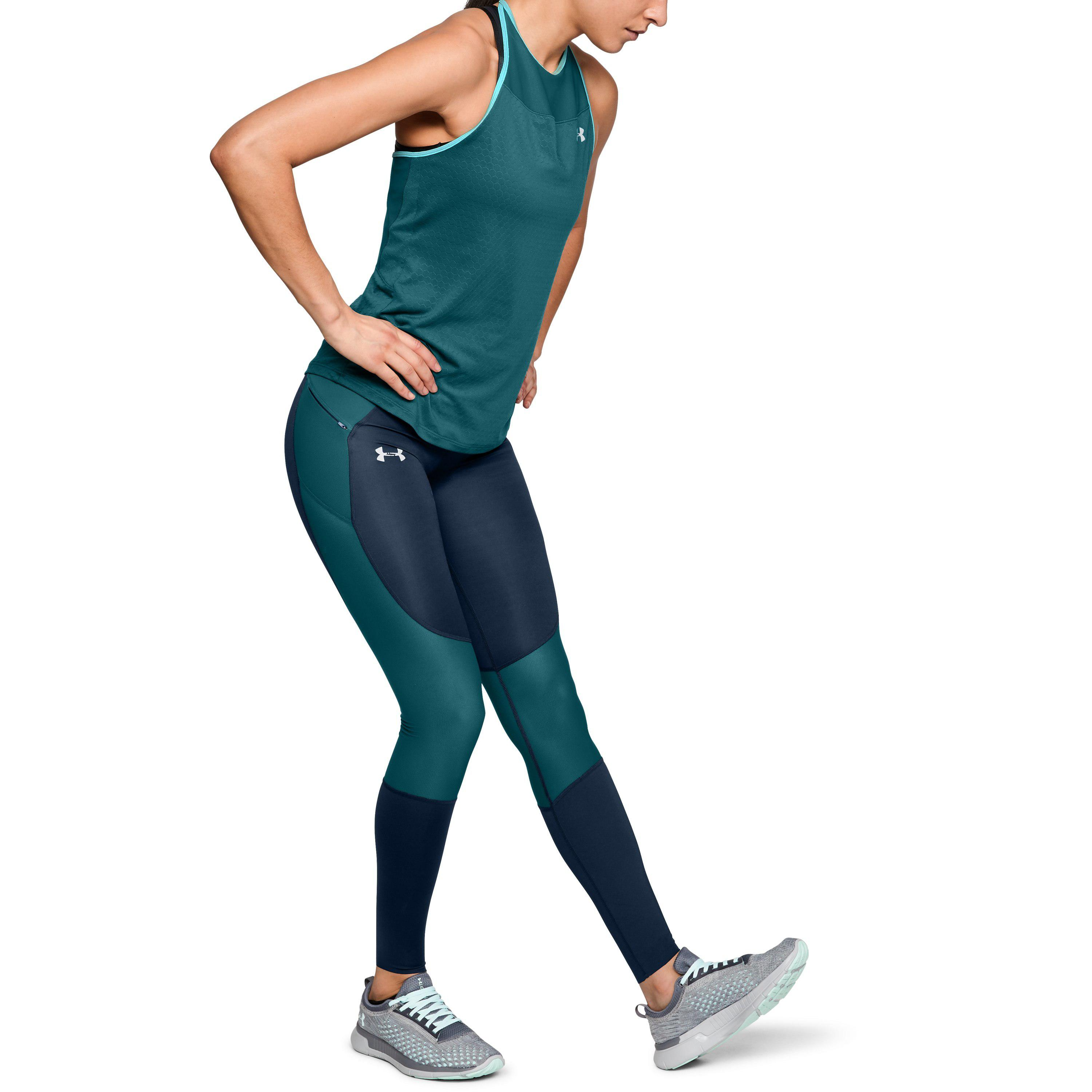 outlet for sale high quality guarantee free delivery Under Armour Blue Women's Ua Speedpocket Run Tights